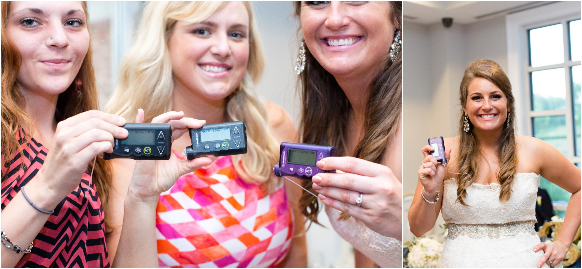 These girls are diabetic and ROCKING LIFE!! Bethany wore her pump in her dress the whole day!