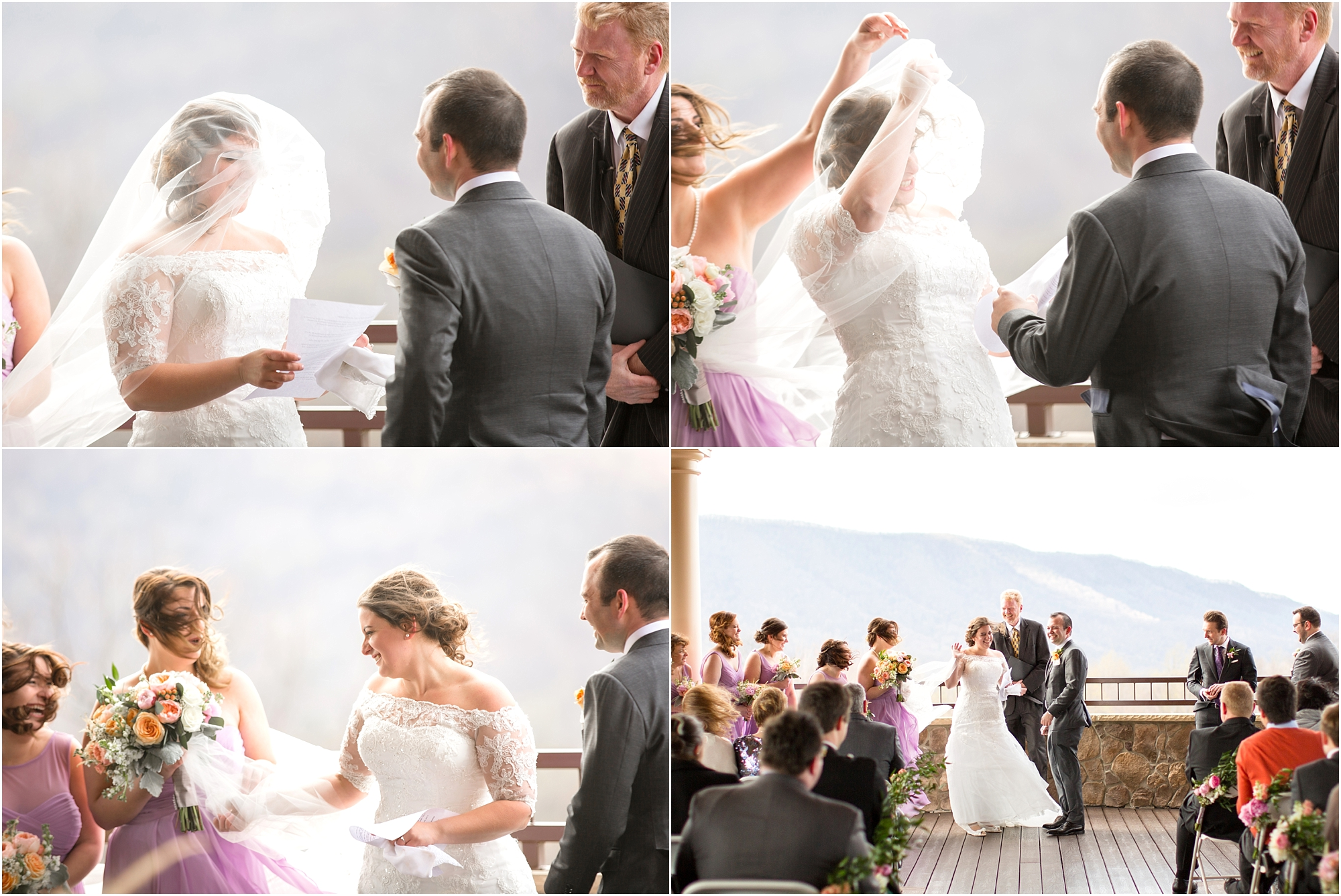 Haha! Janet was over that veil halfway throug the ceremony.