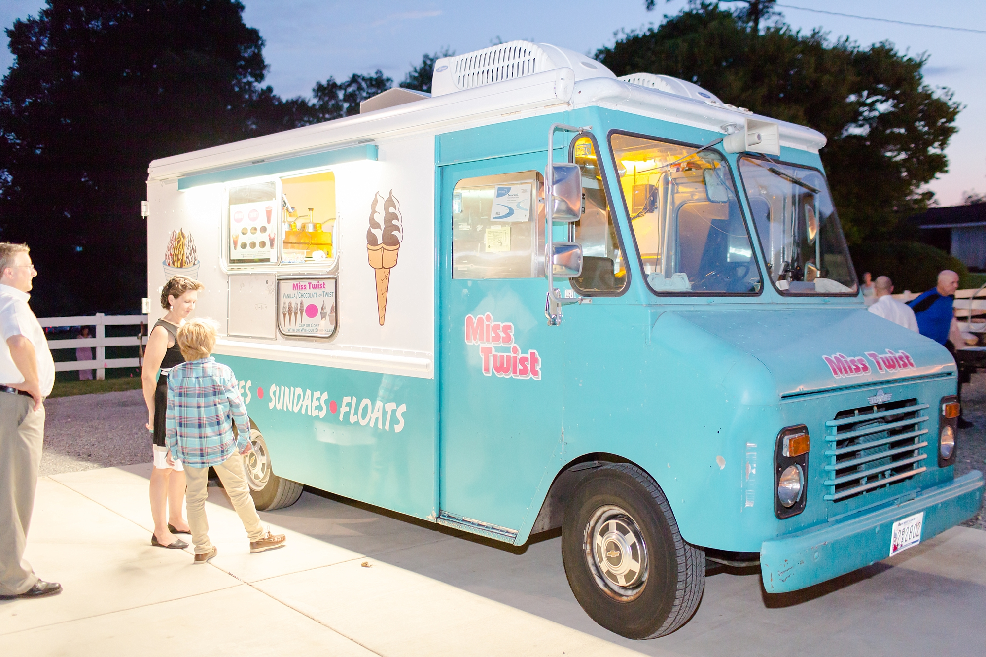 They had Mrs. Twist ice cream truck come for dessert!