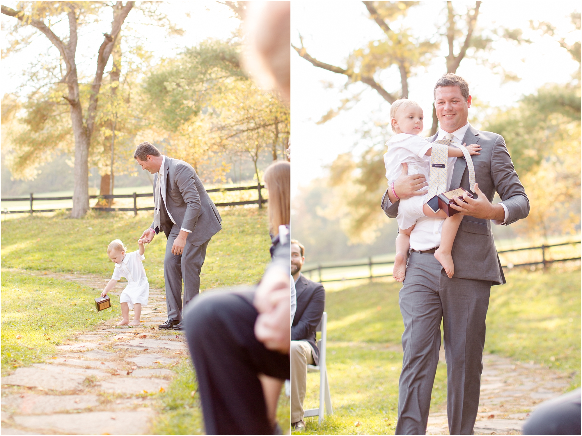 The cutest little ring bearer! Too much pressure for the little guy.
