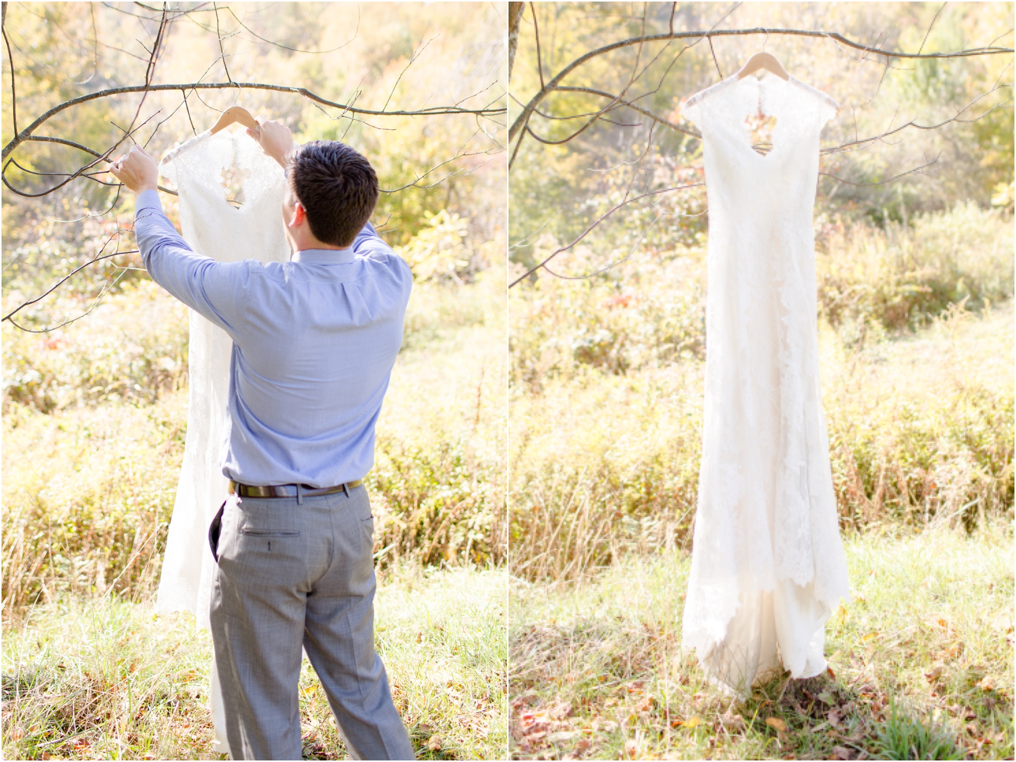 Having a tall husband comes in handy on wedding days!