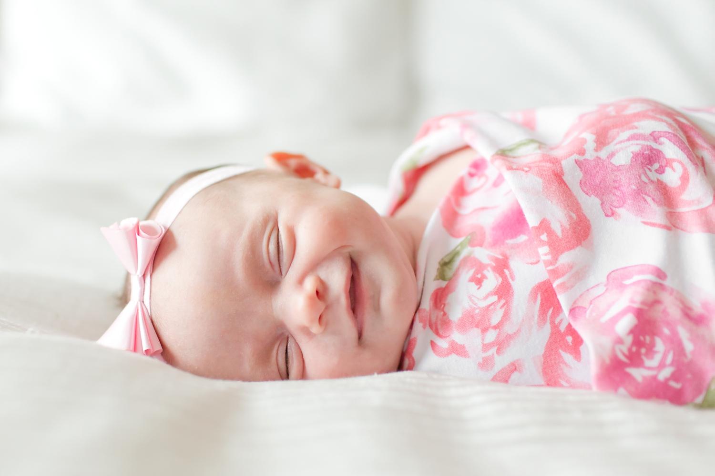 Baby smiles!!
