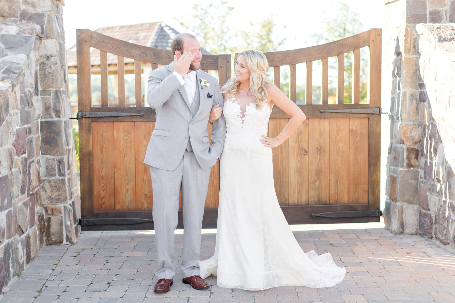 Robbie was so excited to marry his girl, he kept getting emotional thinking about it. Love!