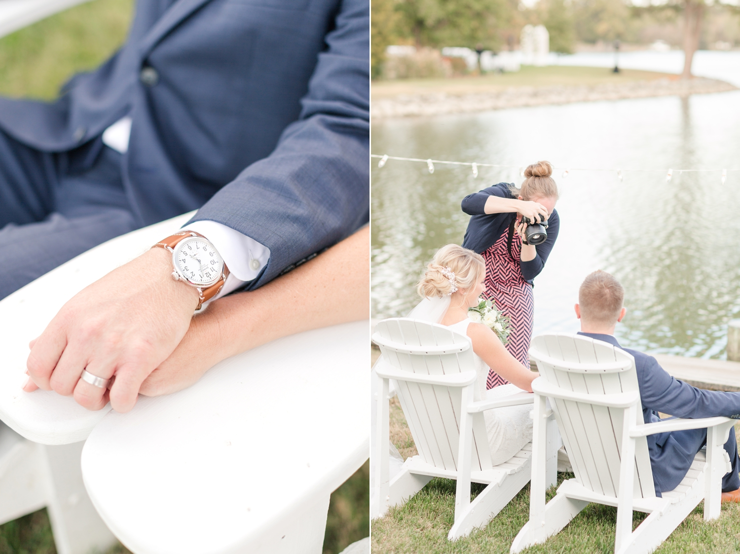 Kristine gave Joe this watch as a wedding present! Love the little details.