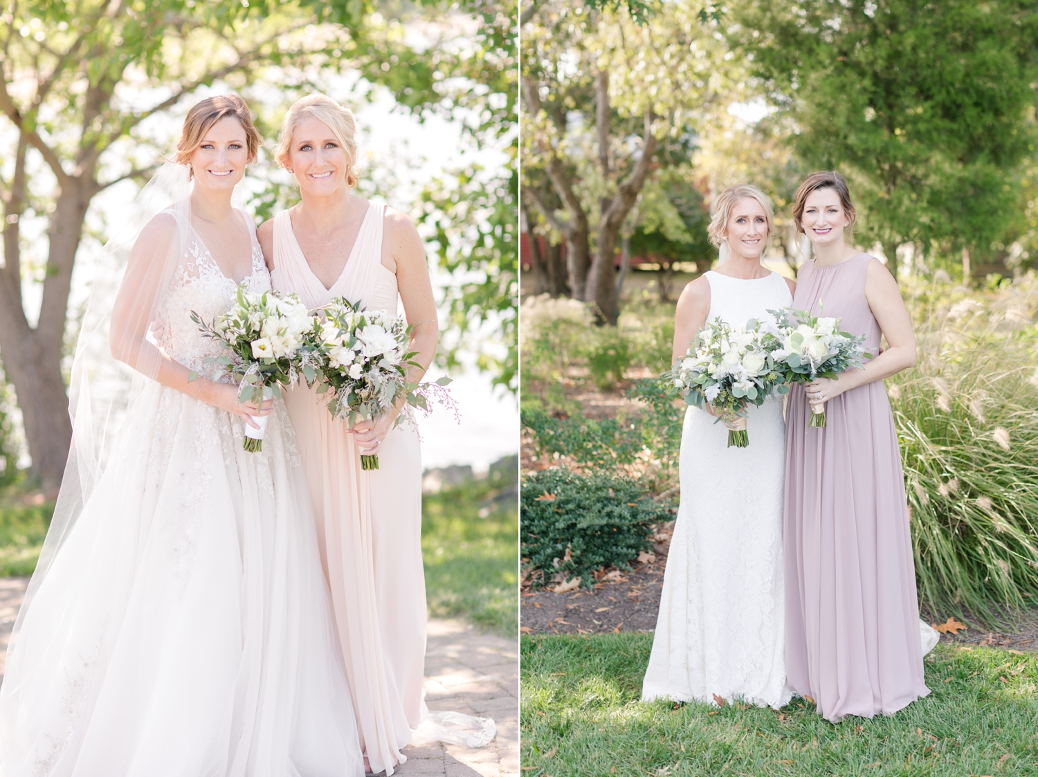 Kim's wedding   on the left,   Kristine's wedding   on the right. Shooting these two sisters' weddings this year was a blast. We love the Wayson family!