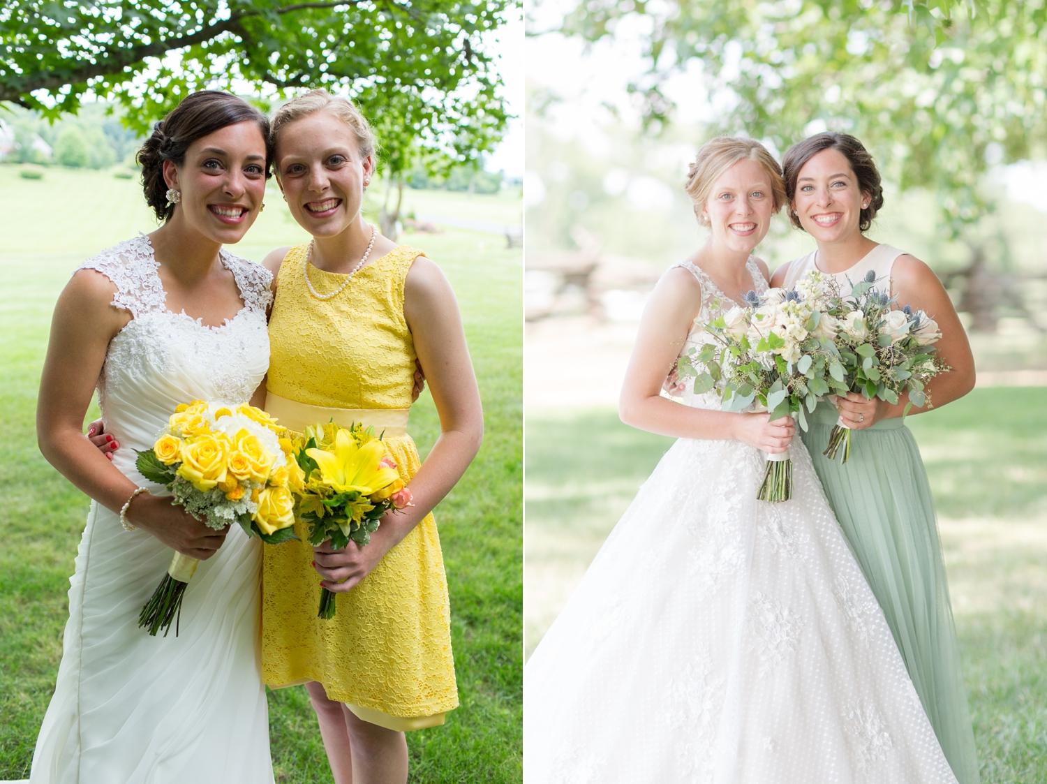 Another beautiful pair of sisters! The left was   Kate's wedding four years ago  , and   Emily's wedding   this year on the right!