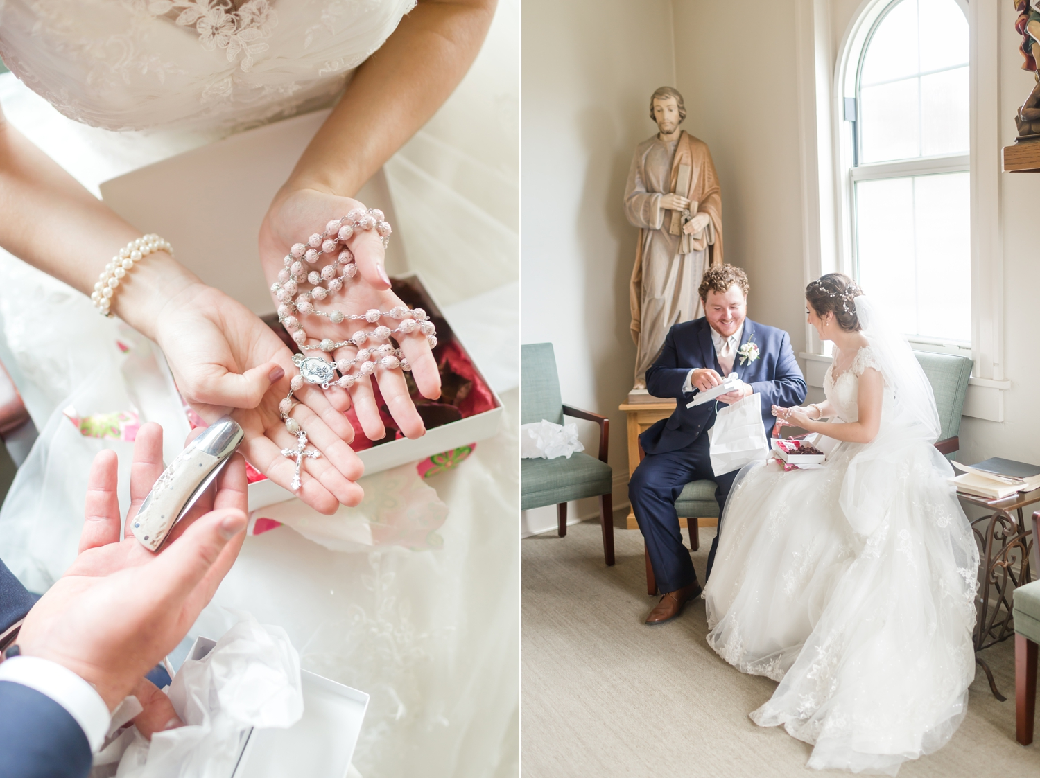 Love these gifts they exchanged before the ceremony!