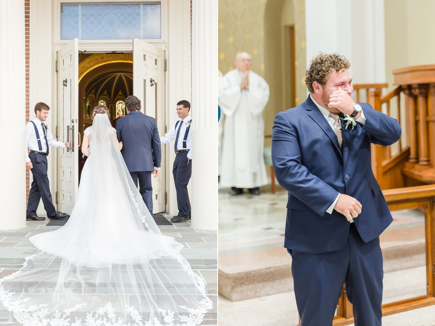 First Look's don't ruin that first sight of your bride when she walks down the aisle! I love this so much.