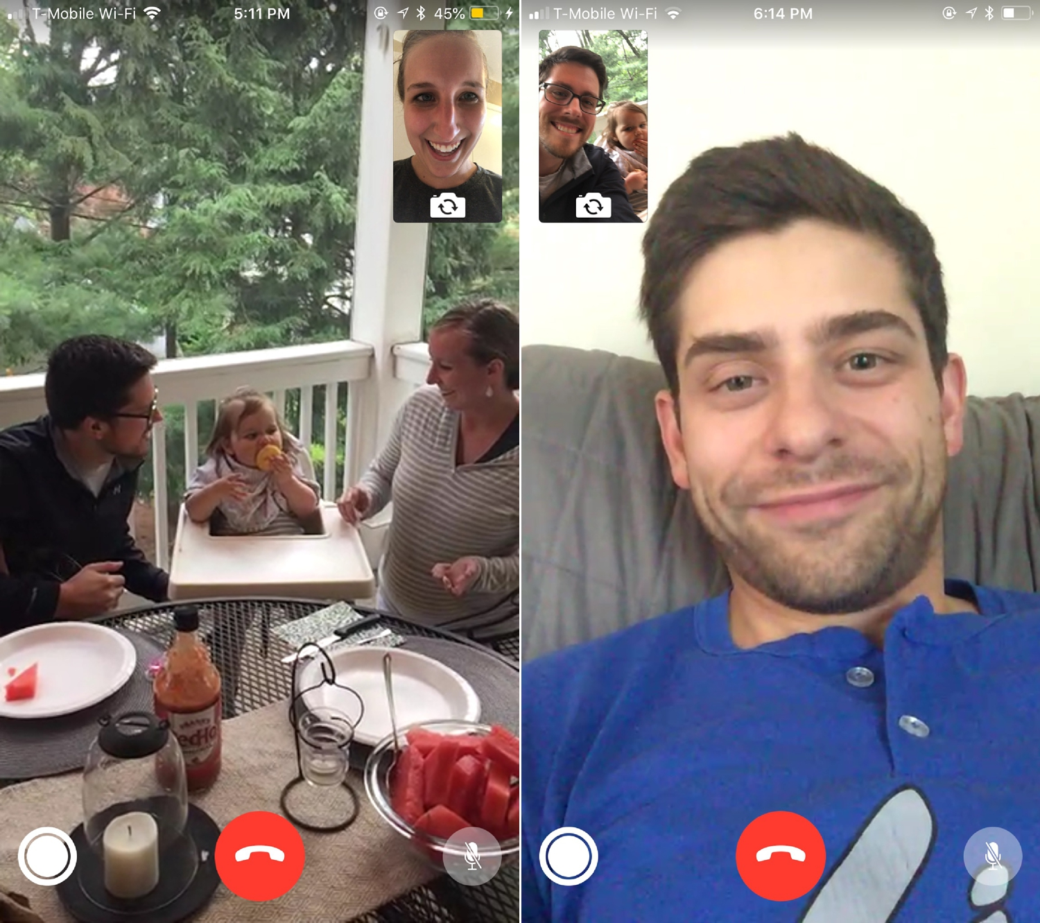 FaceTiming with the out-of-towners!