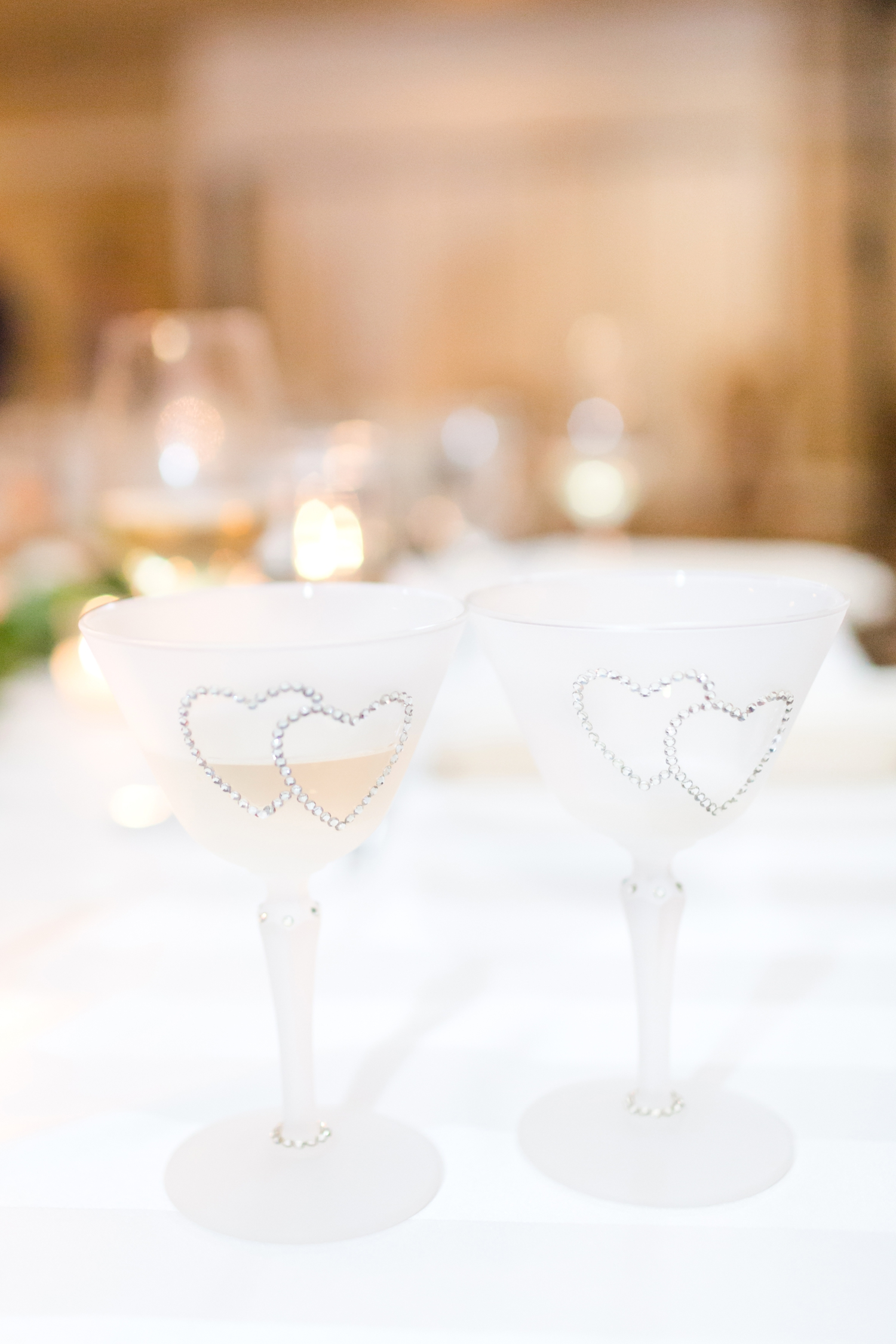 Special champagne glasses that have been at other family members weddings. So sweet!