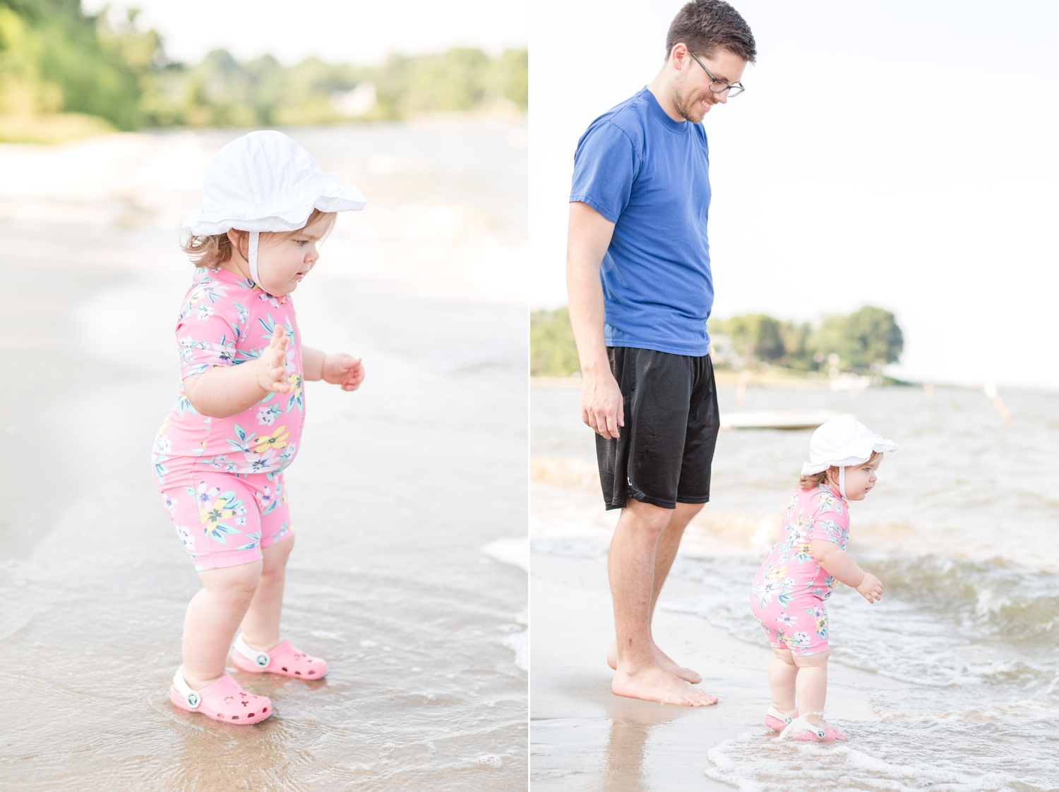 The first day Payton was a little scared of the water, but then she loved it!