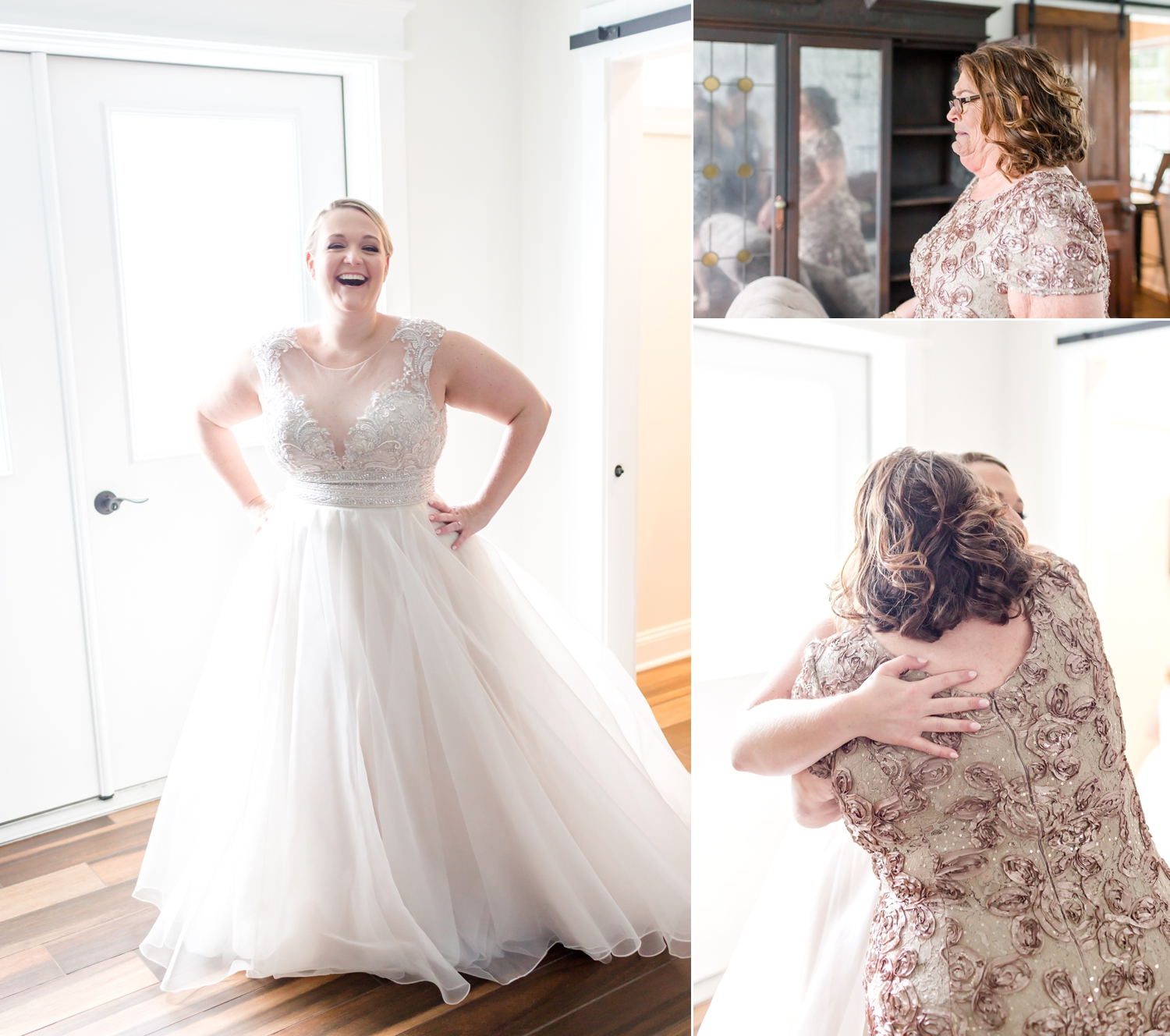 Emily's mom was overwhelmed when she saw her in her dress. It was priceless!