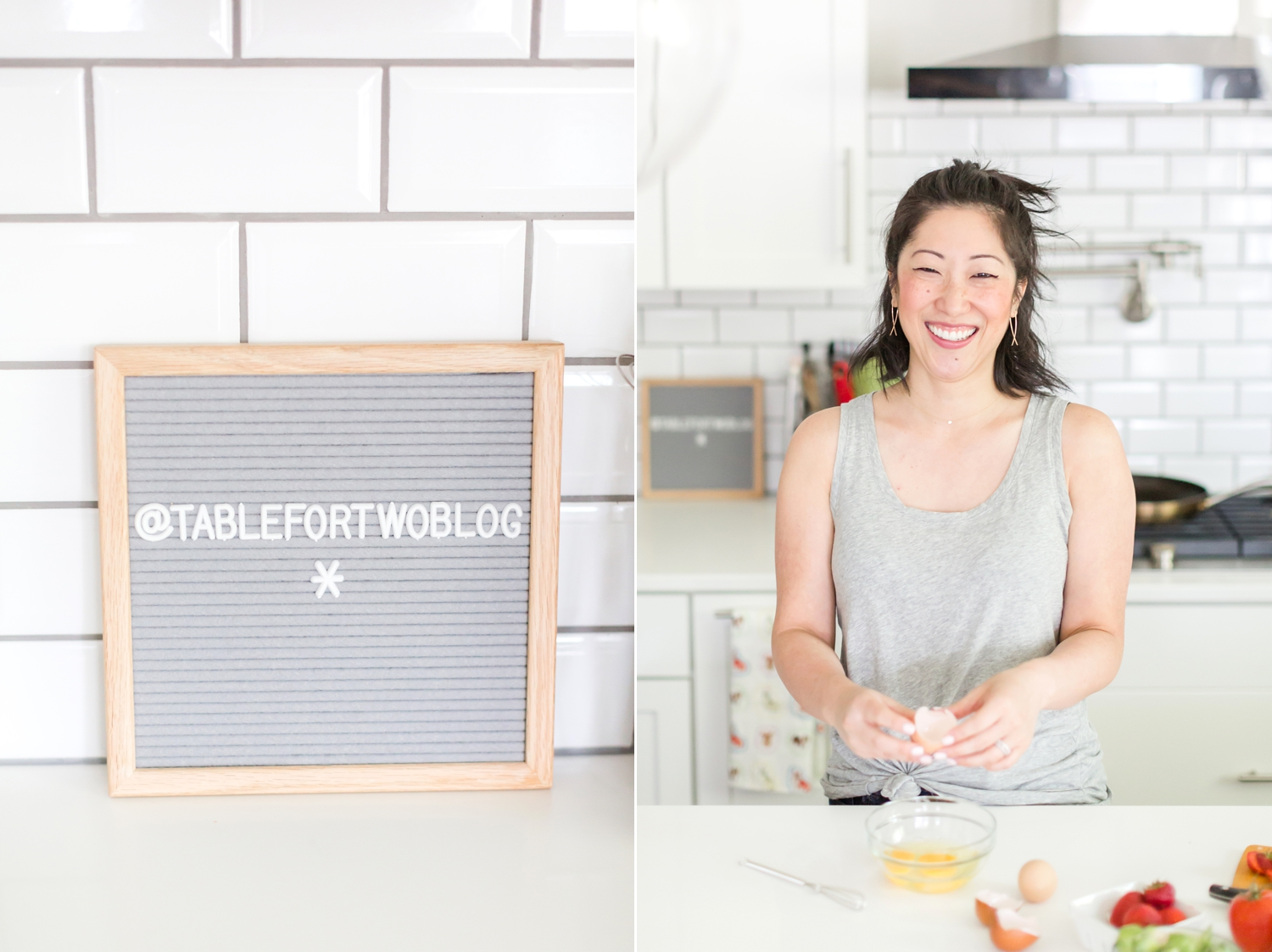 Love these in-home photos of Julie in her beautiful kitchen!