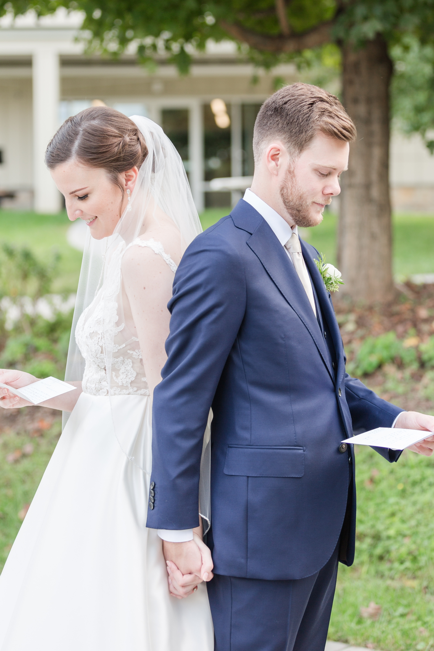 They read letters from each other back to back before the Ceremony. So sweet!