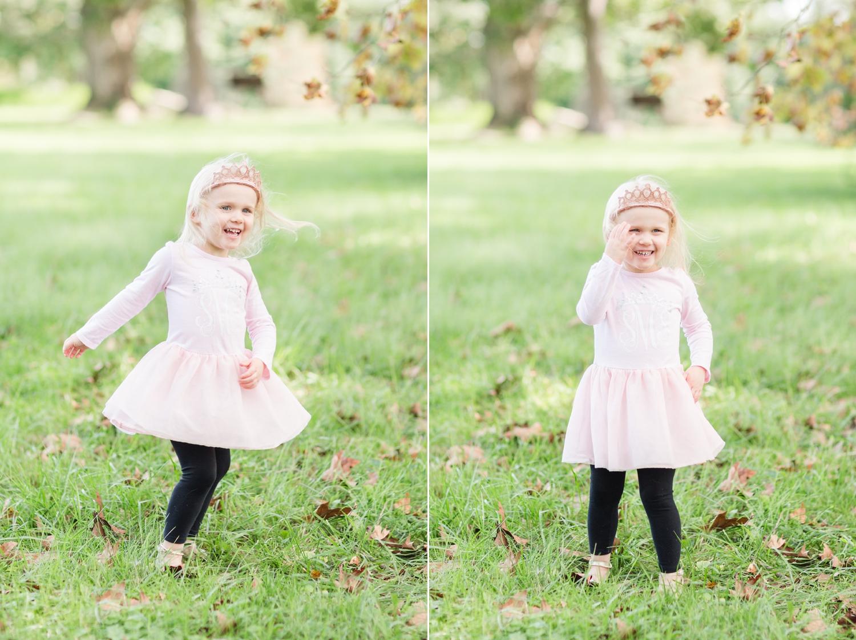 Sadie loves to twirl in her cute crown!