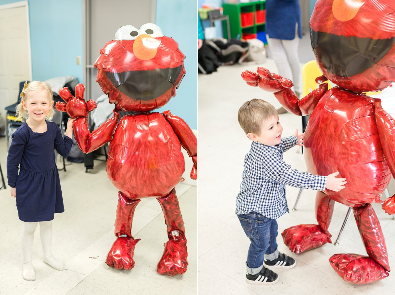 The   Elmo walker   was a big hit!