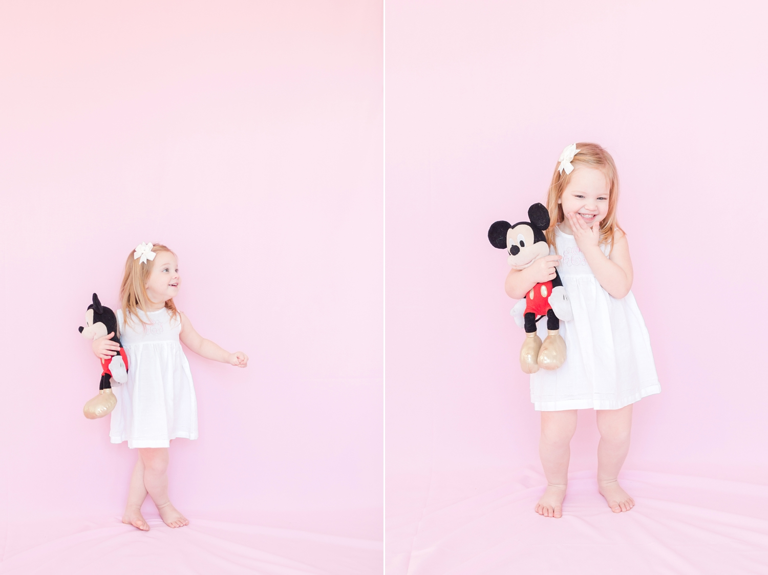 This little girl loves her Mickey Mouse!