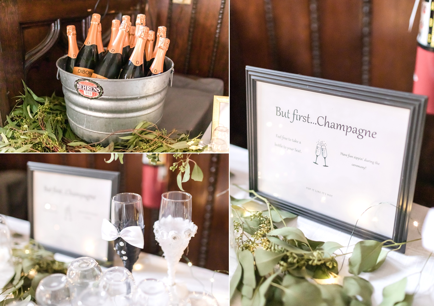 A delicious champagne bar before the ceremony!