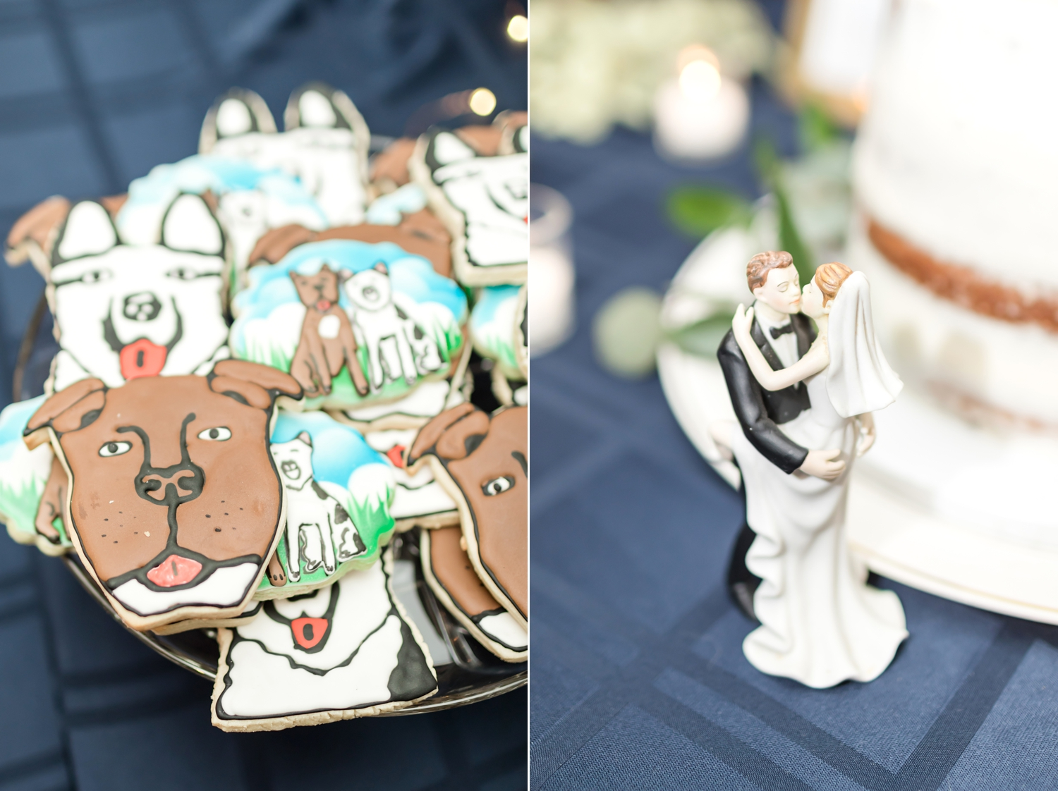 How adorable are these cookies that look like Angel and Matty's pups?!