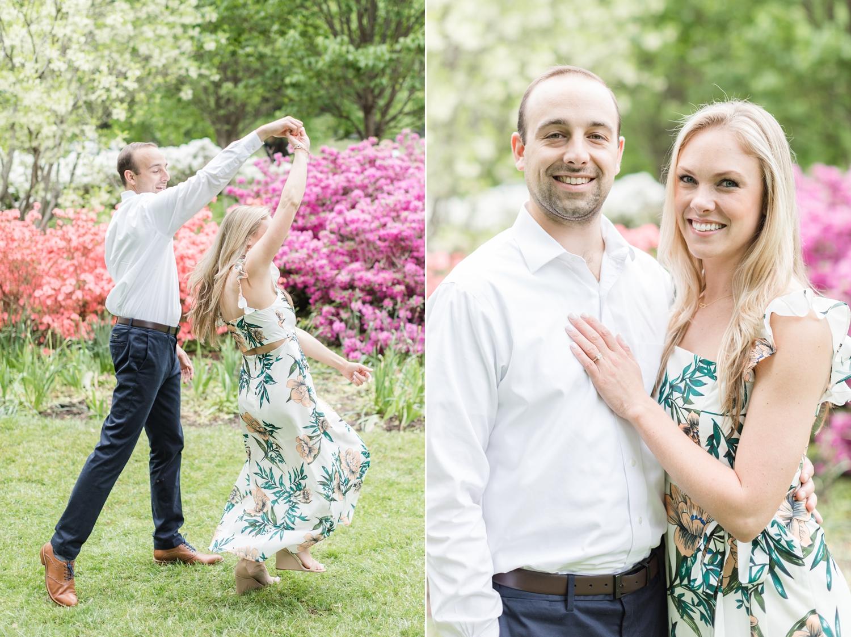 Dancing in the beautiful gardens!