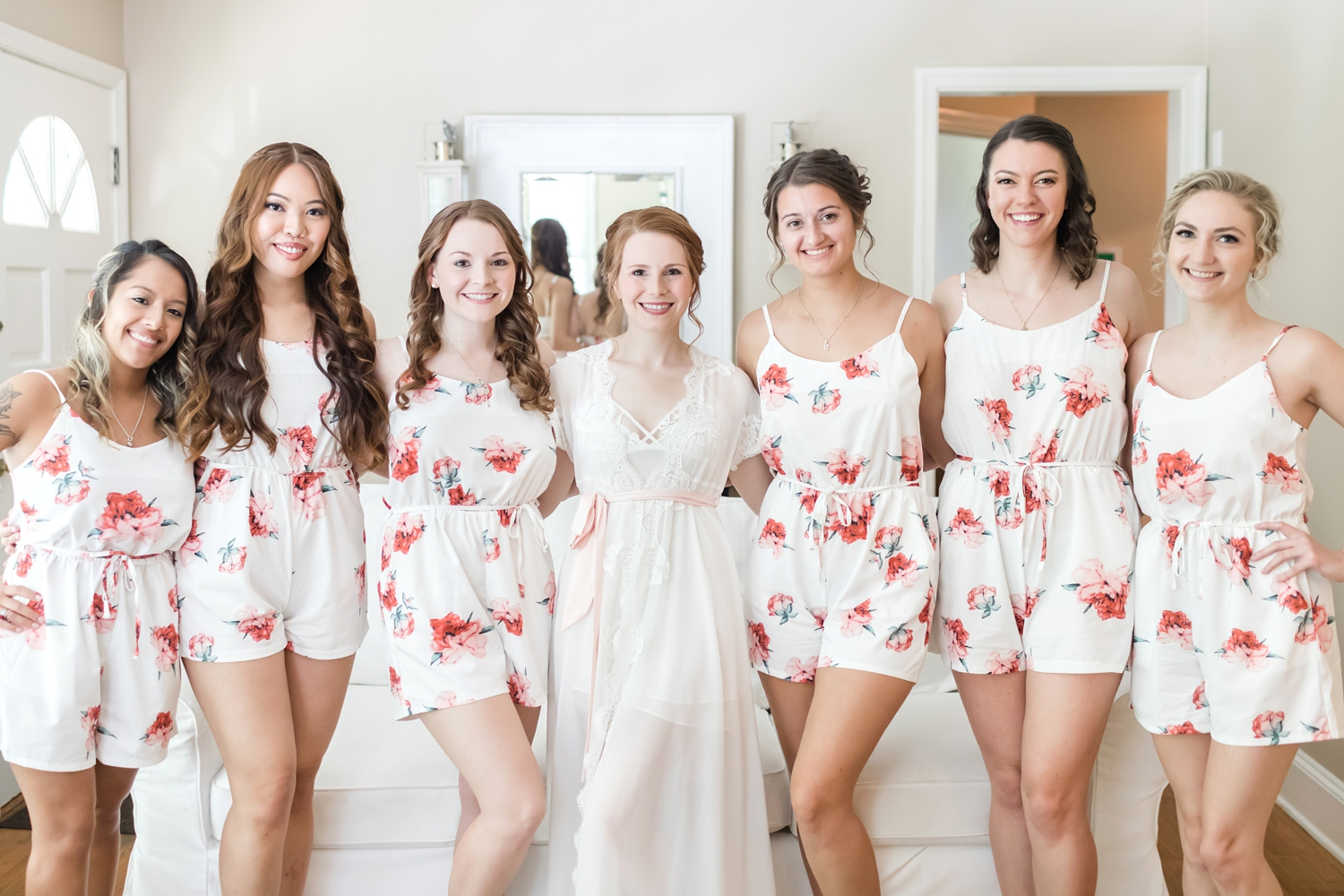 How adorable are these rompers?! And Jessica your robe is stunning!