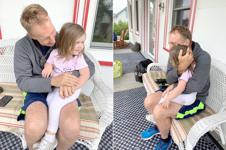 Payton loves her Papa.