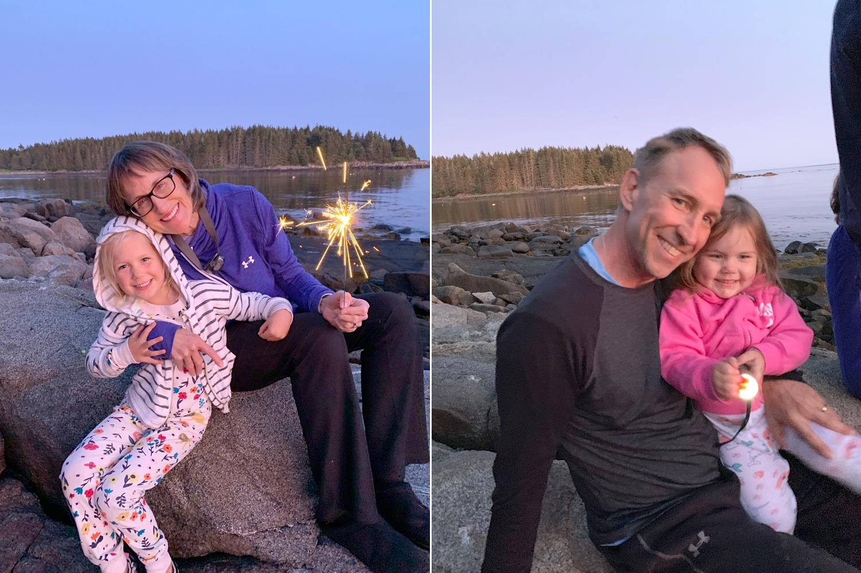 Sparklers on the last night!