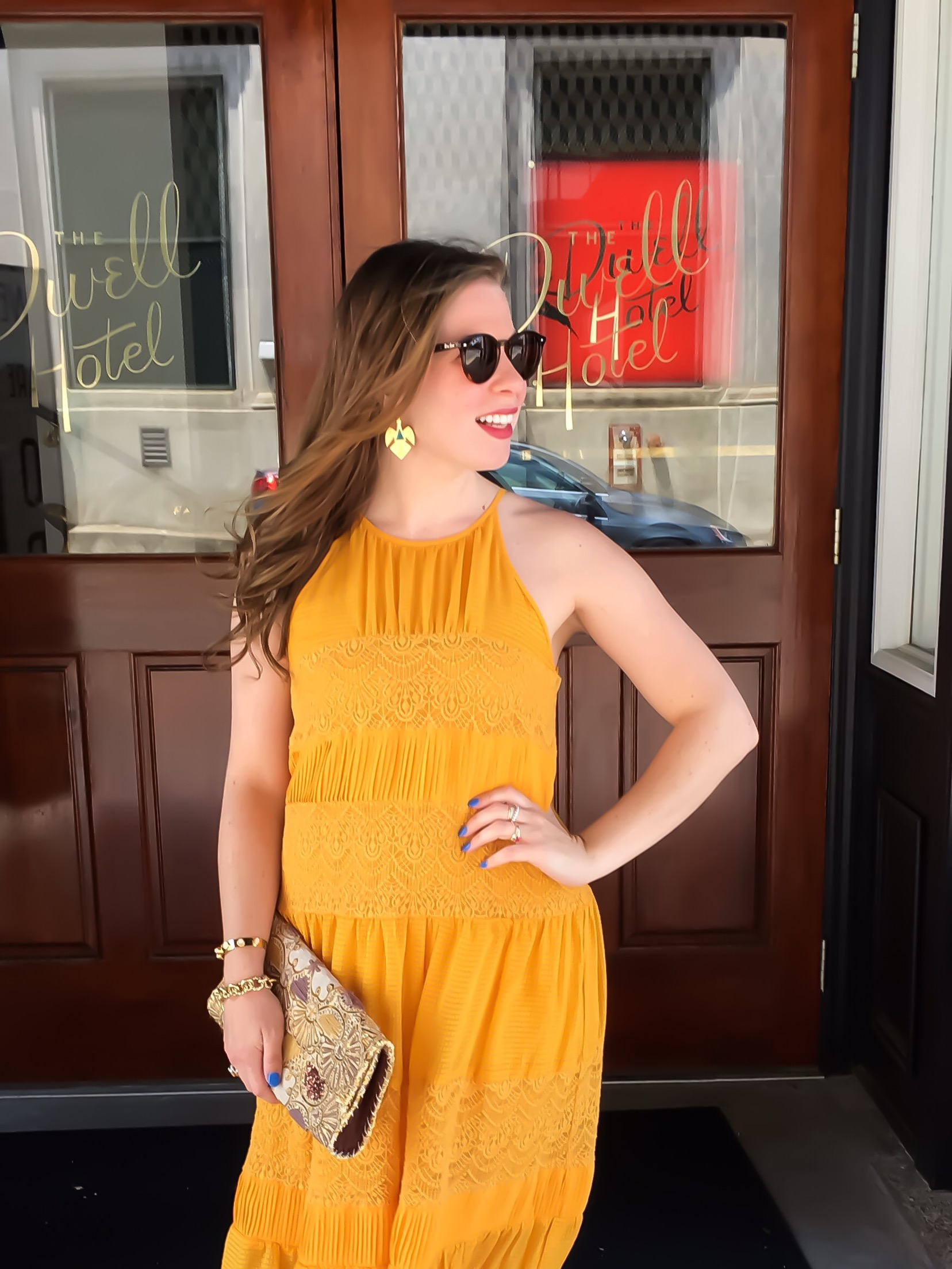 yellow anthropologie dress 02