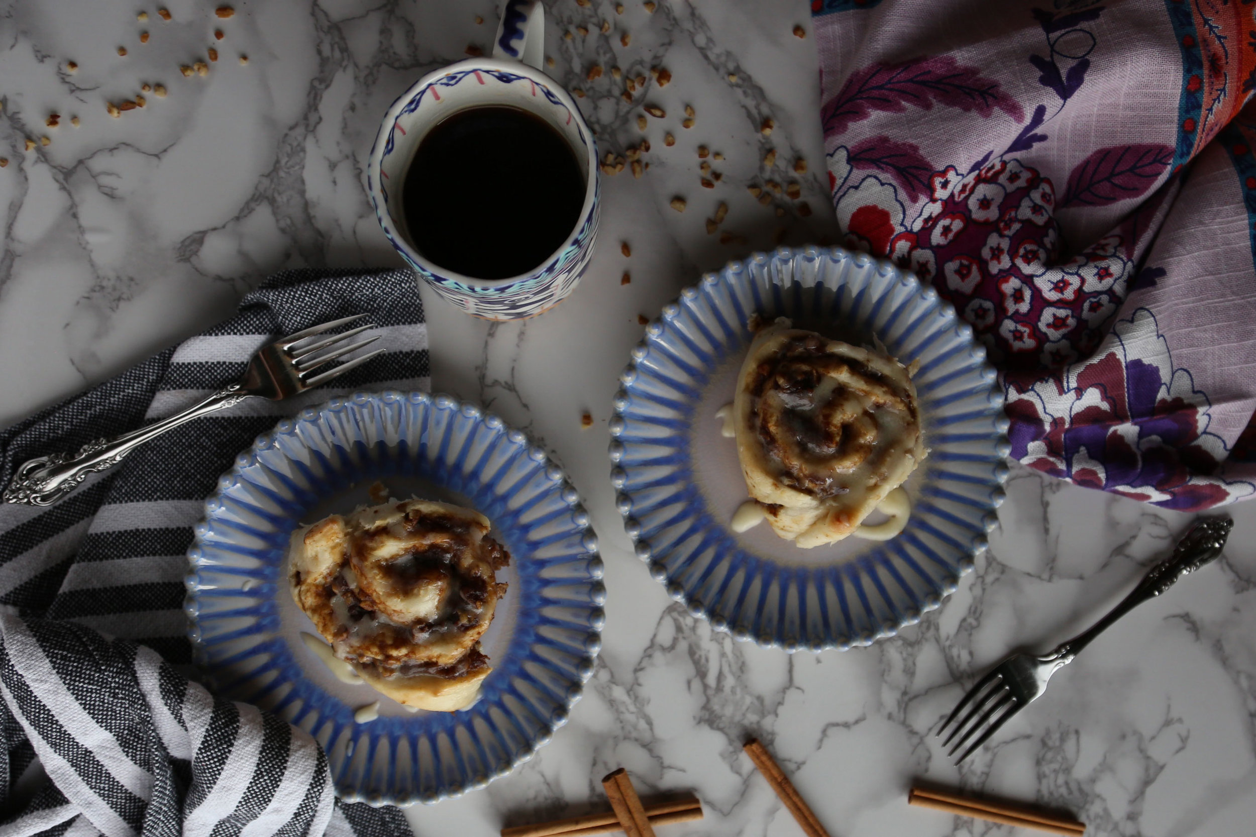 Sweet Potato Cinnamon Rolls with Pecans and Brown Butter Glaze