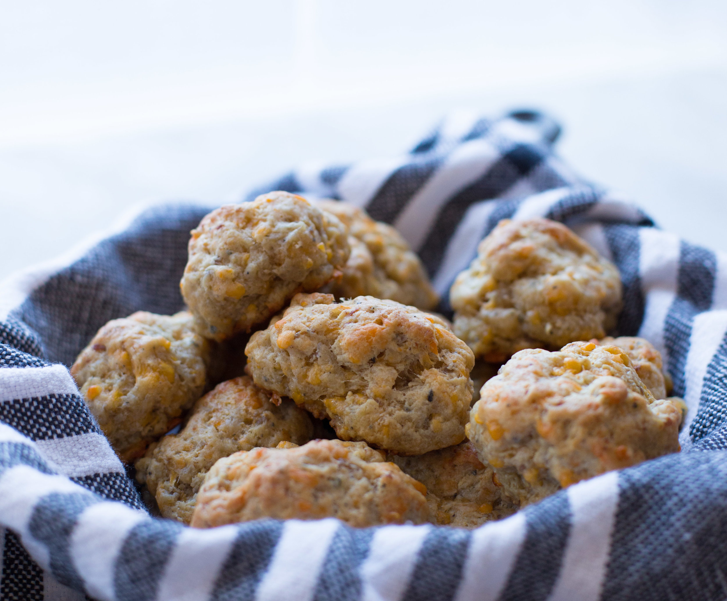 Beyond Tasty Bisquick-Free Sausage Balls made with sharp cheese, cream cheese, and mild breakfast sausage. Perfect for your Super Bowl party!