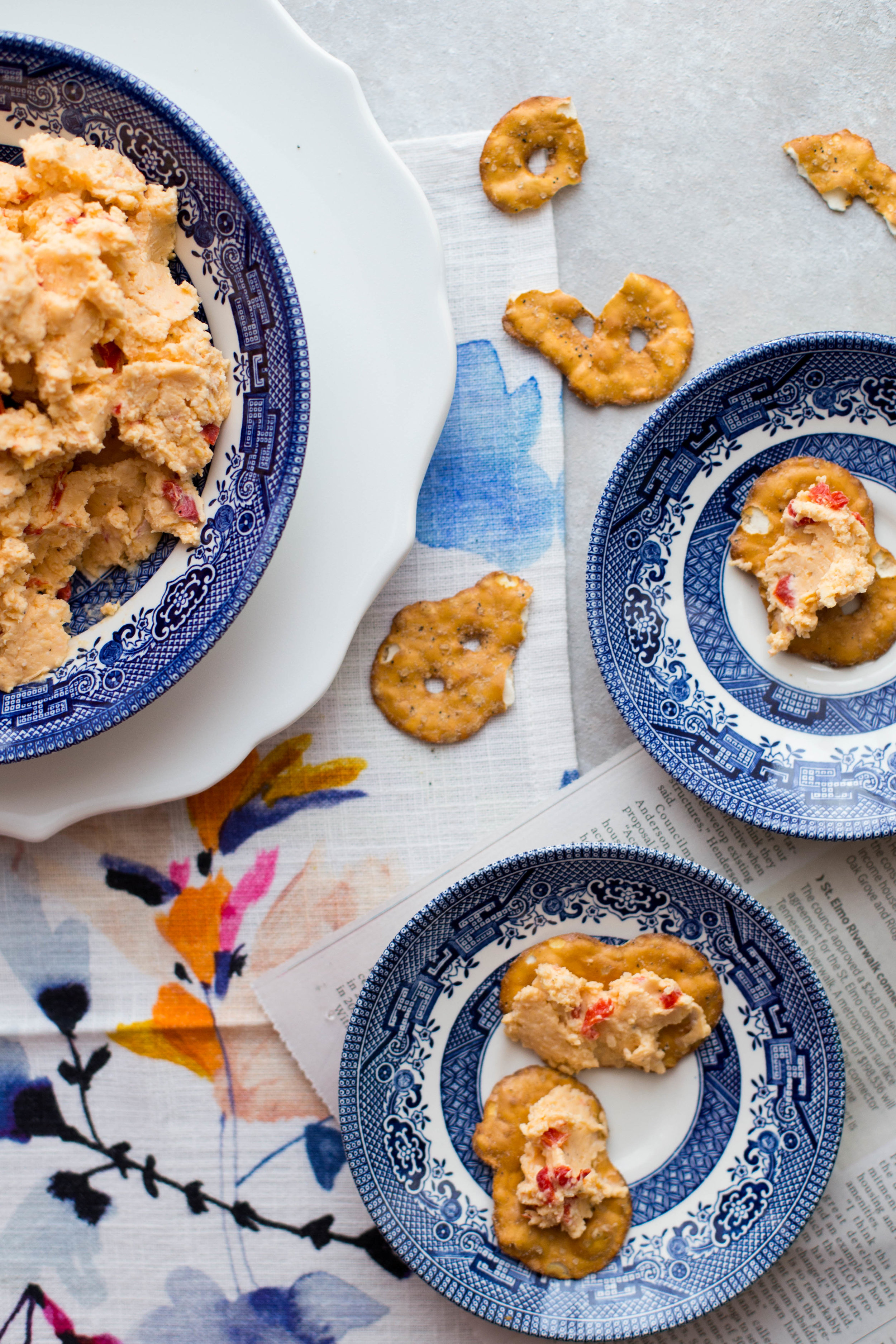 This spicy whipped pimento cheese is the perfect simple appetizer or snack for any occasion.