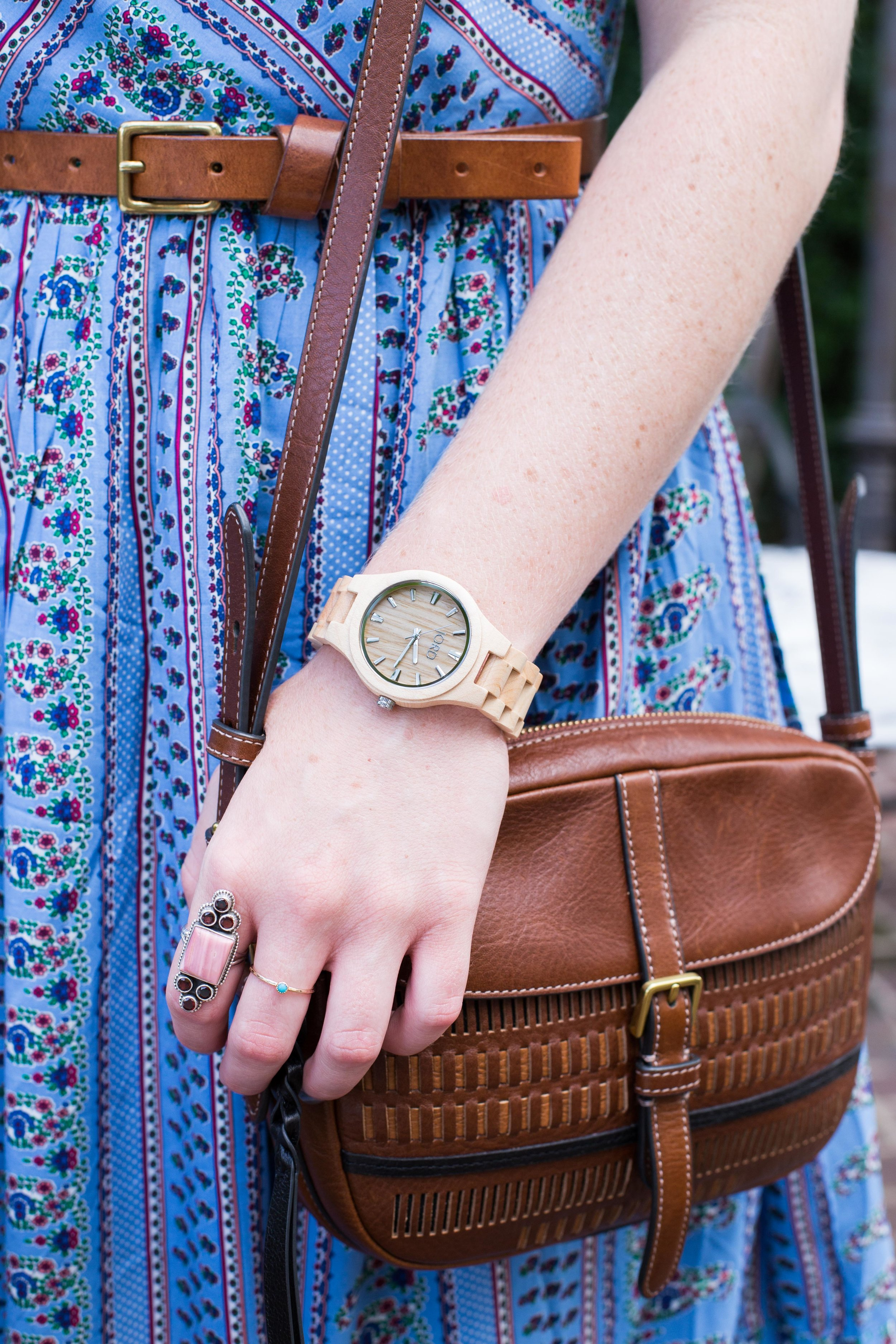 This unique, wooden Jord Watch is the perfect addition to an outfit.