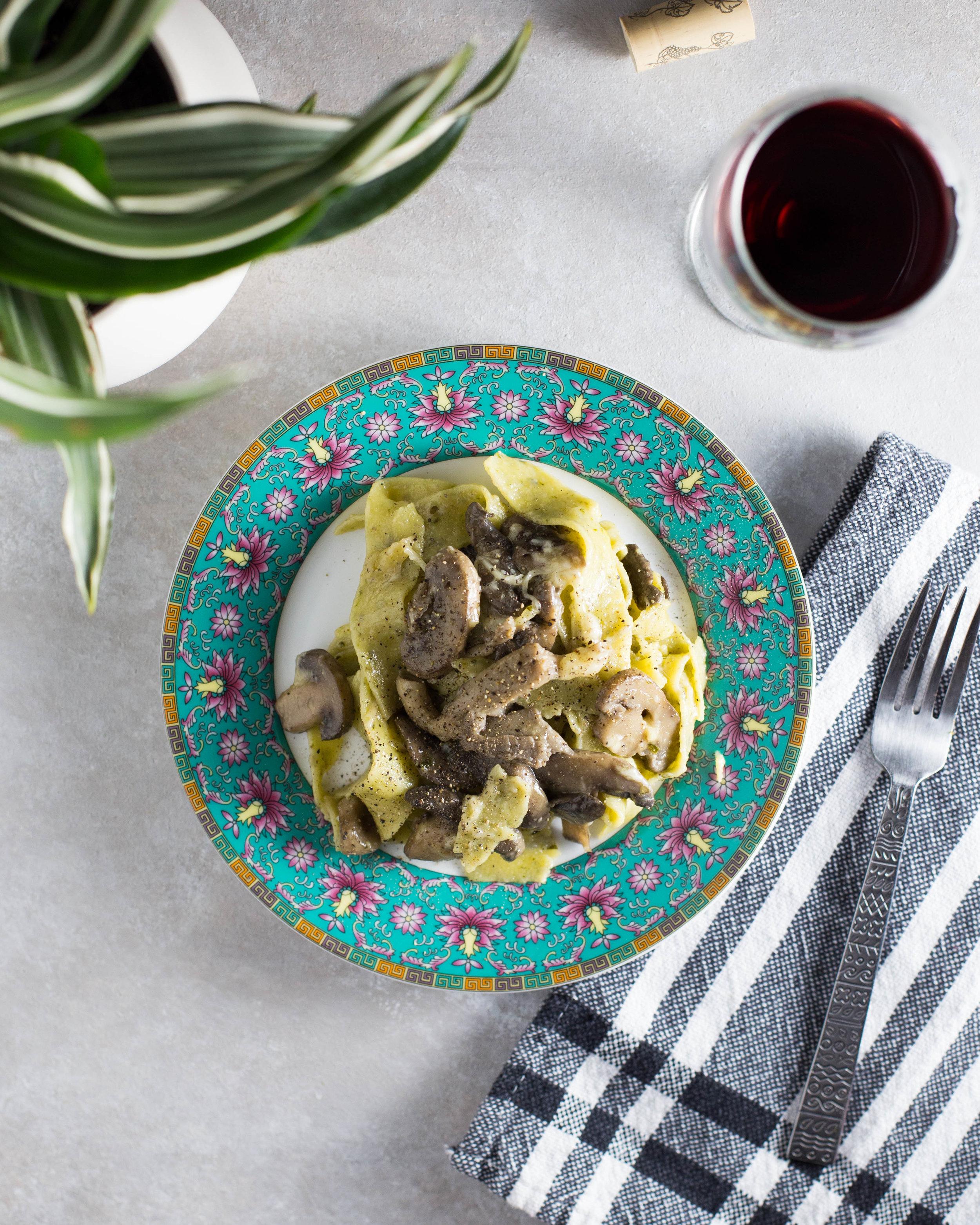 Cacio e Pepe with Mushrooms Recipe.
