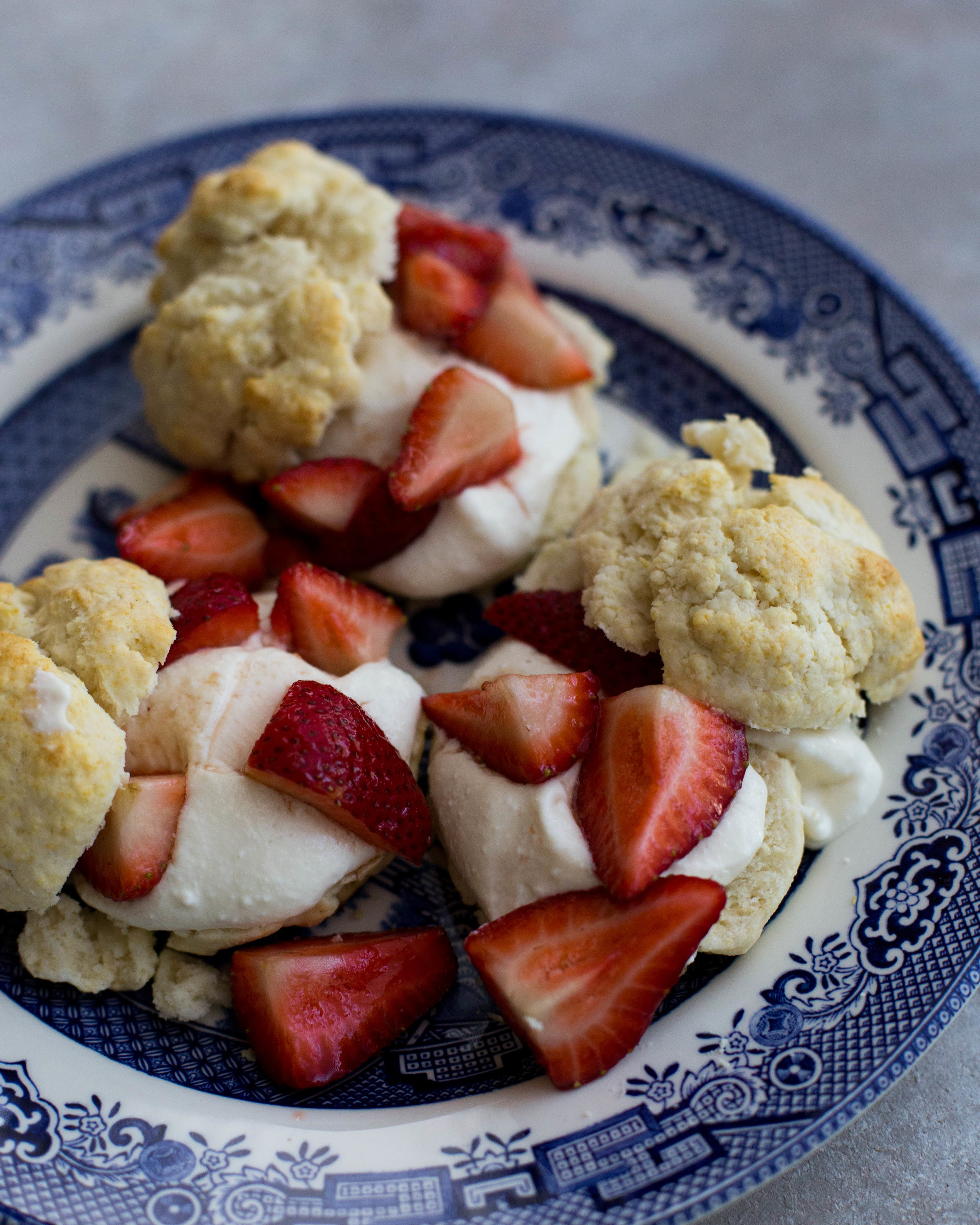 Easy Strawberry and Ricotta Biscuit Shortcakes, perfect for a summer brunch!
