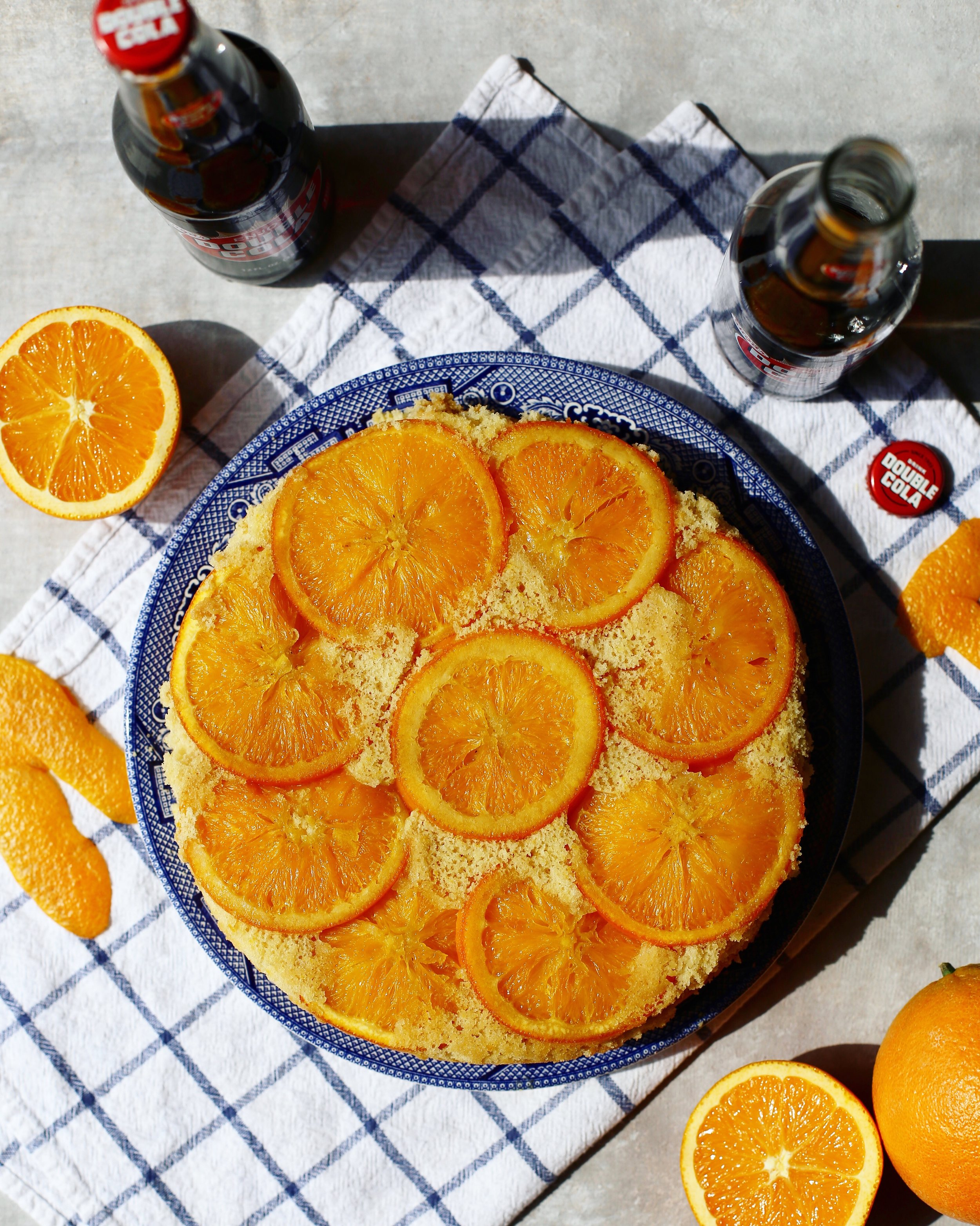 Double Cola Orange Upside-Down Cake Recipe
