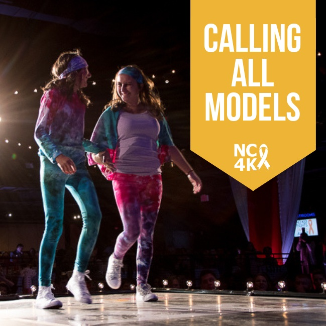Sign up to Model - We invite you to strut your stuff on the NC4K stage and raise funds to support pediatric cancer families. Whether you model by yourself or as a team, you are helping to ensure that No Kid Fights Cancer Alone. To secure your spot in the Fashion Show, sign up by as a model by August 15th and each model must raise $250 by September 6th.Once you've reached your goal you will receive a headshot and our Top 10 fundraising models will receive special recognition.* If you are wanting to model with a friend register as a team. If walking by yourself, register as an individual.