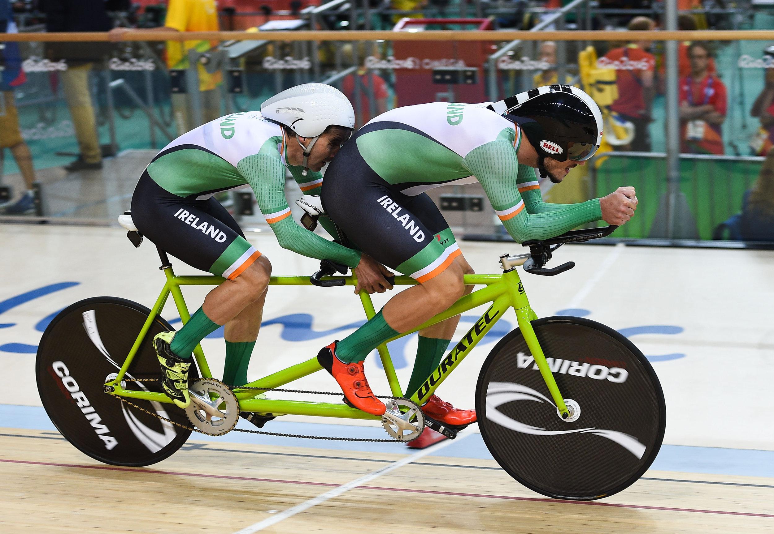 Cycling: Damien Vereker & Pilot Sean Hahessy in the Individual B Pursuit Qualifier