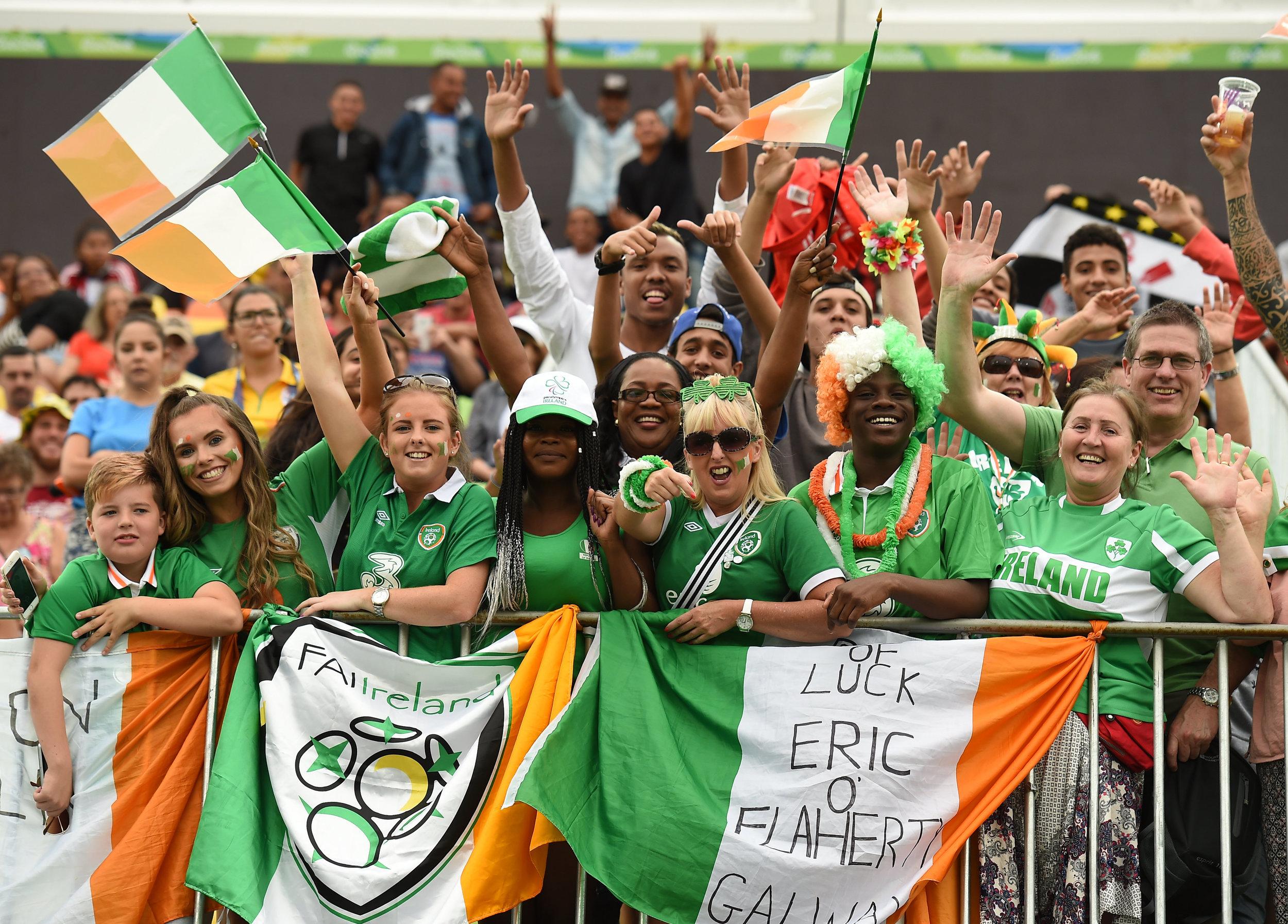 Team Ireland supporters at the Ireland v Ukraine Match