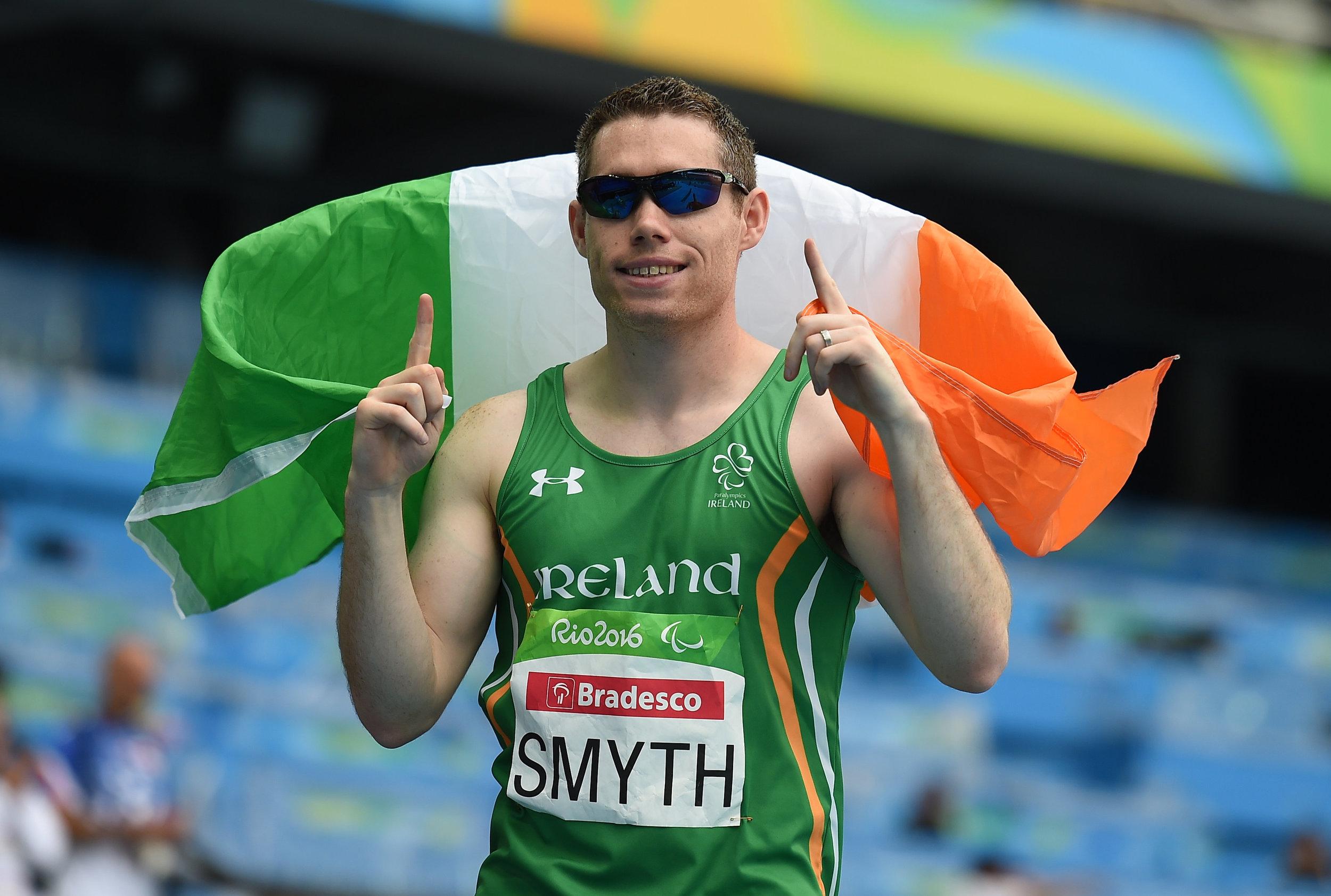 Athletics: Jason Smyth winning he T13 100m Final