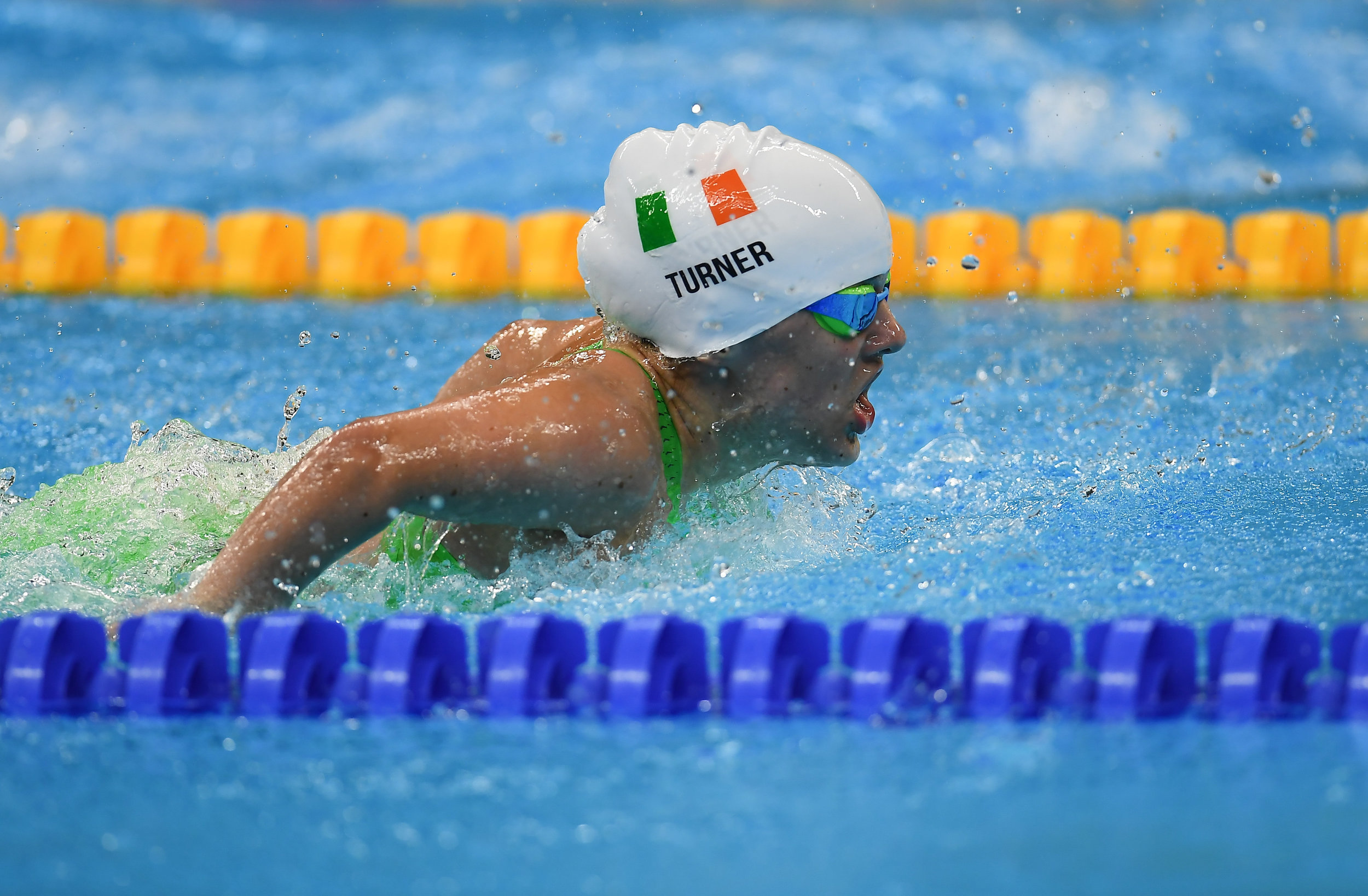 Swimming: Nicole Turner in the S6 50m Butterfly Final