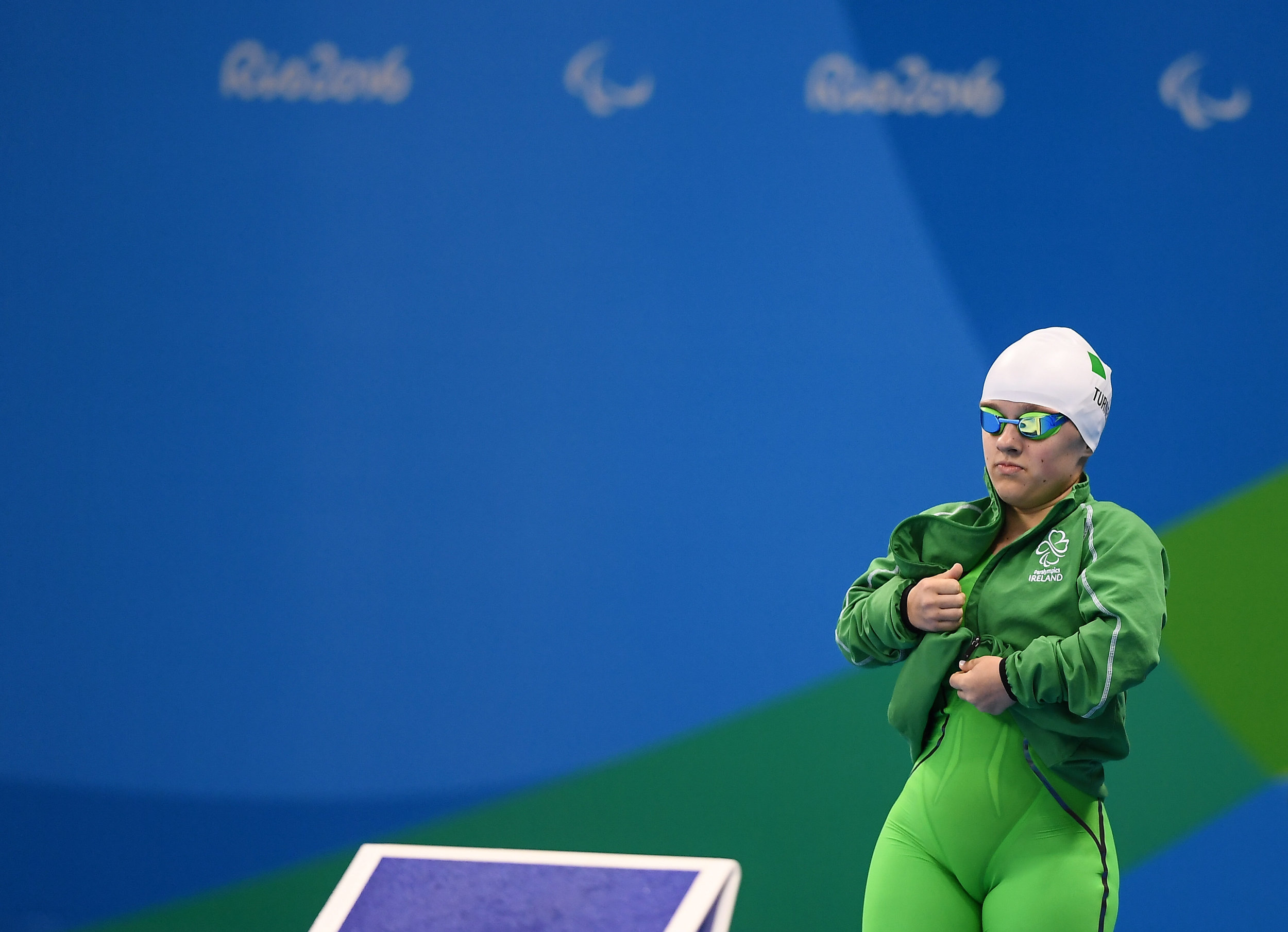 Swimming: Nicole Turner in the S6 50m Freestyle Final