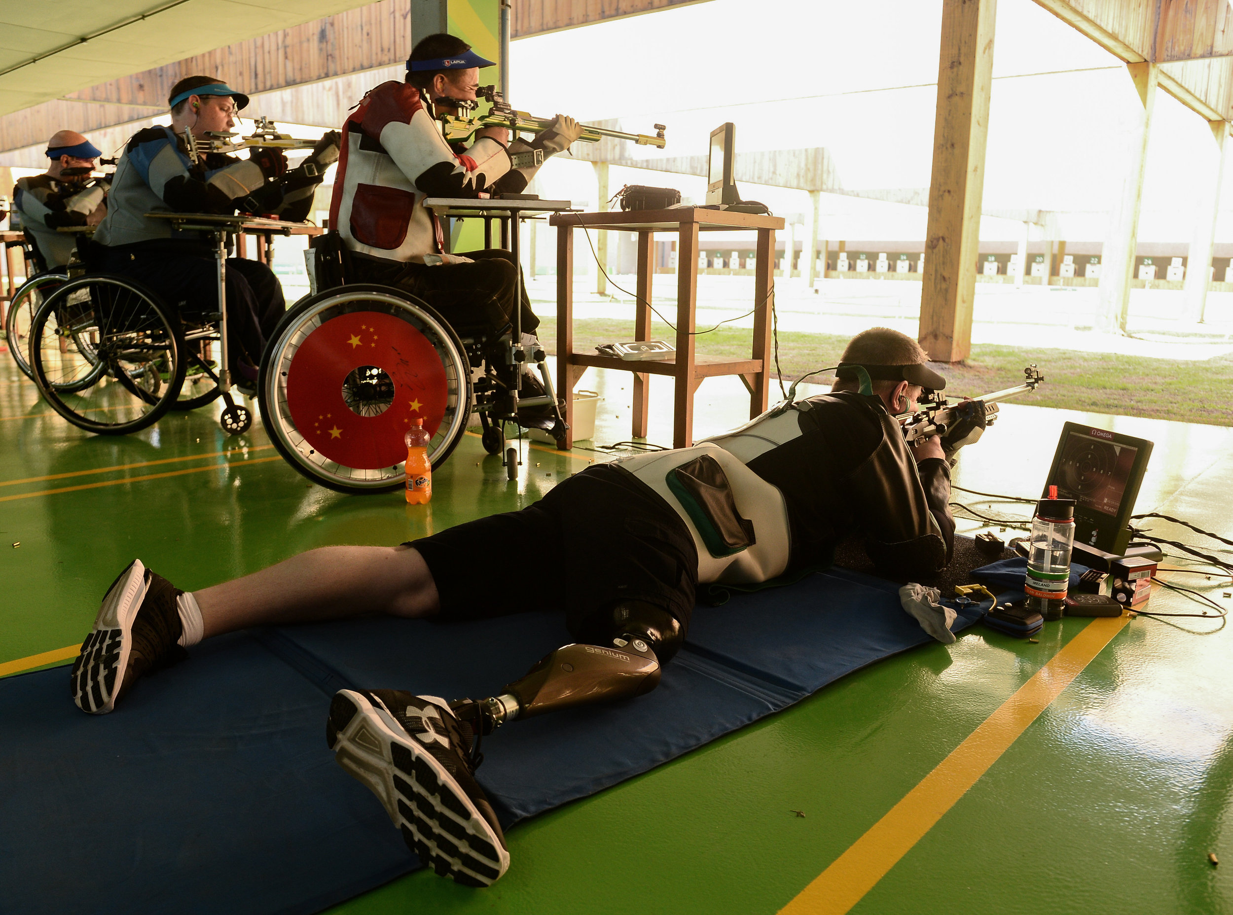 Shooting: Sean Baldwin in the R7 50m Rifle 3 Positions Qualifier