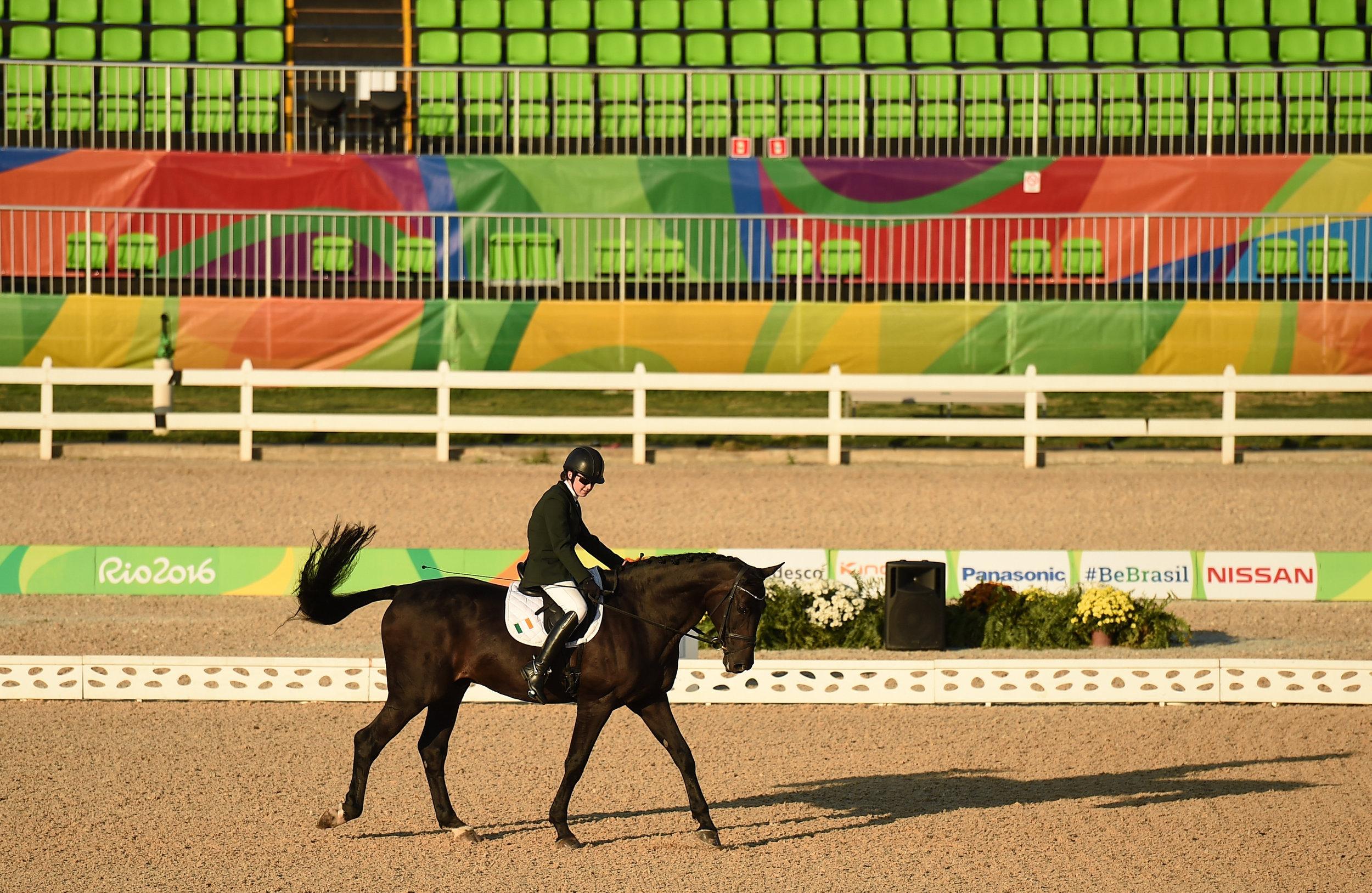 Equestrian: Helen Kearney in the Grade 1a Team Test