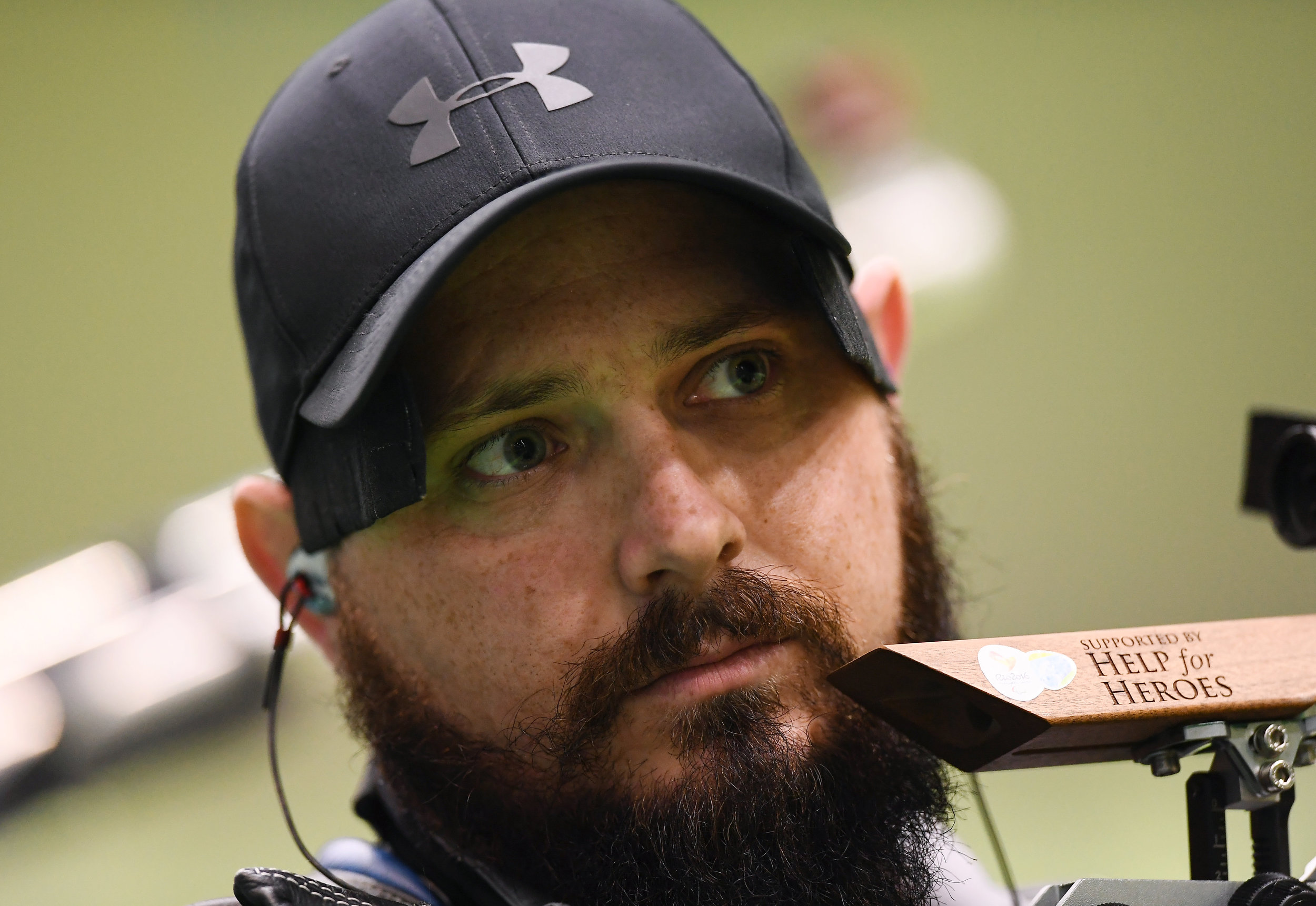 Shooting: Phillip Eaglesham in the R5 Mixed 10m Rifle Prone Qualifier