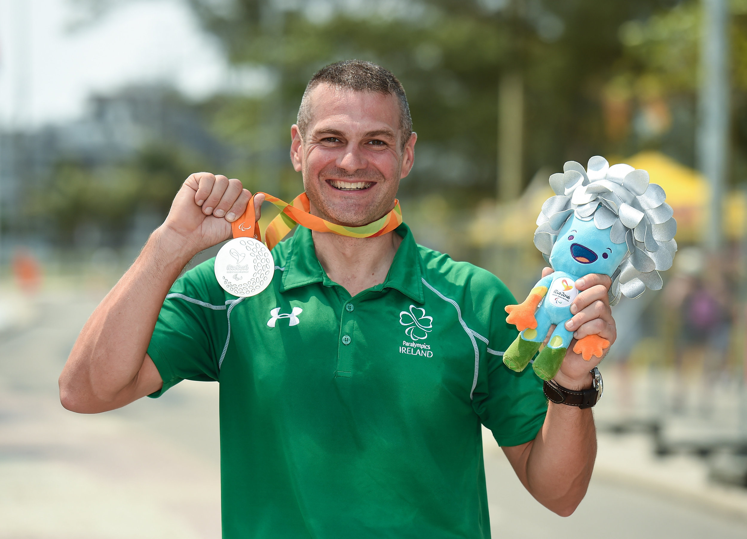 Cycling: Colin Lynch after winning Silver in the C2 Road Time Trial