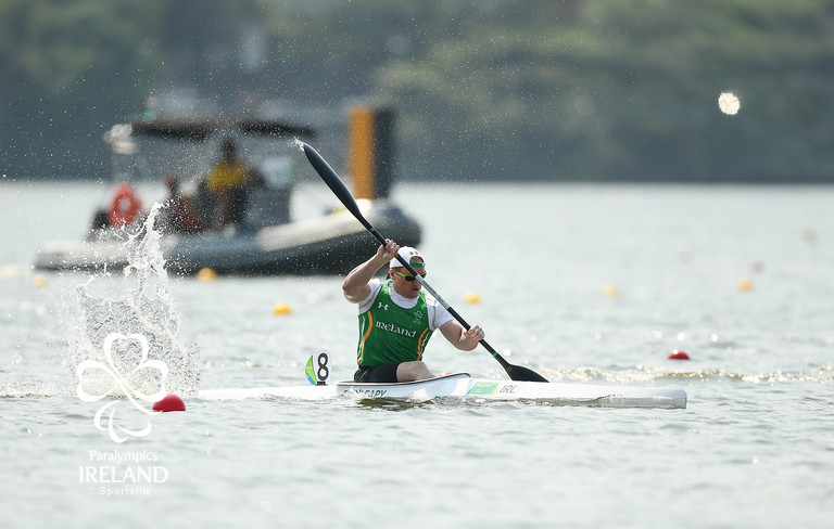 Canoeing: Patrick O'Leary in the KL3 200m Semi-Final