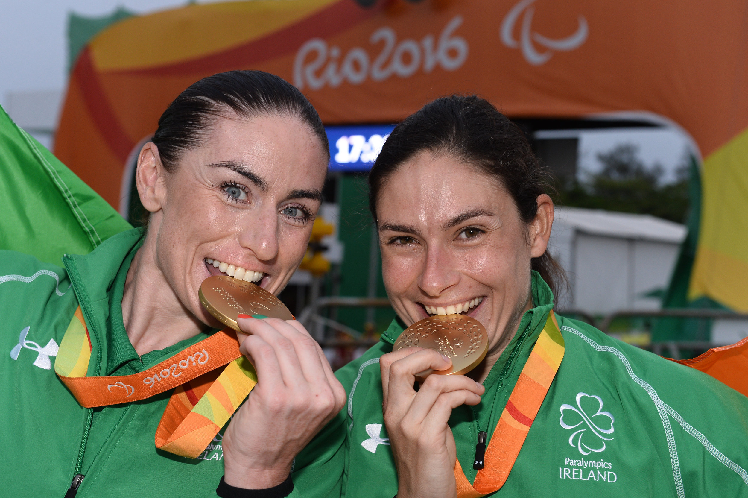 Cycling: Katie-George Dunlevy & Eve McCrystal win Gold in the Women's B Road Time Trial