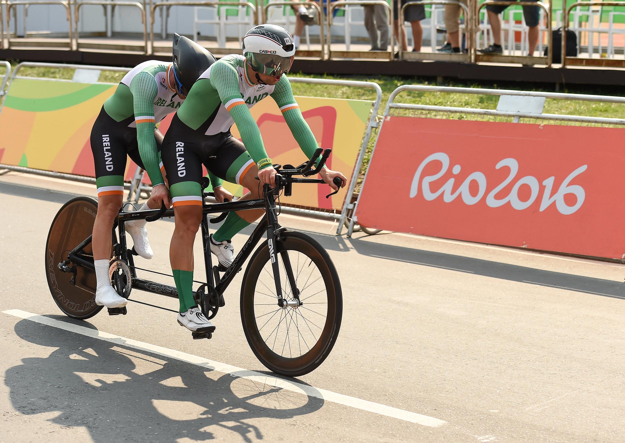 Cycling: Peter Ryan and Marcin Mizgajski in the Mens B Road Time Trial