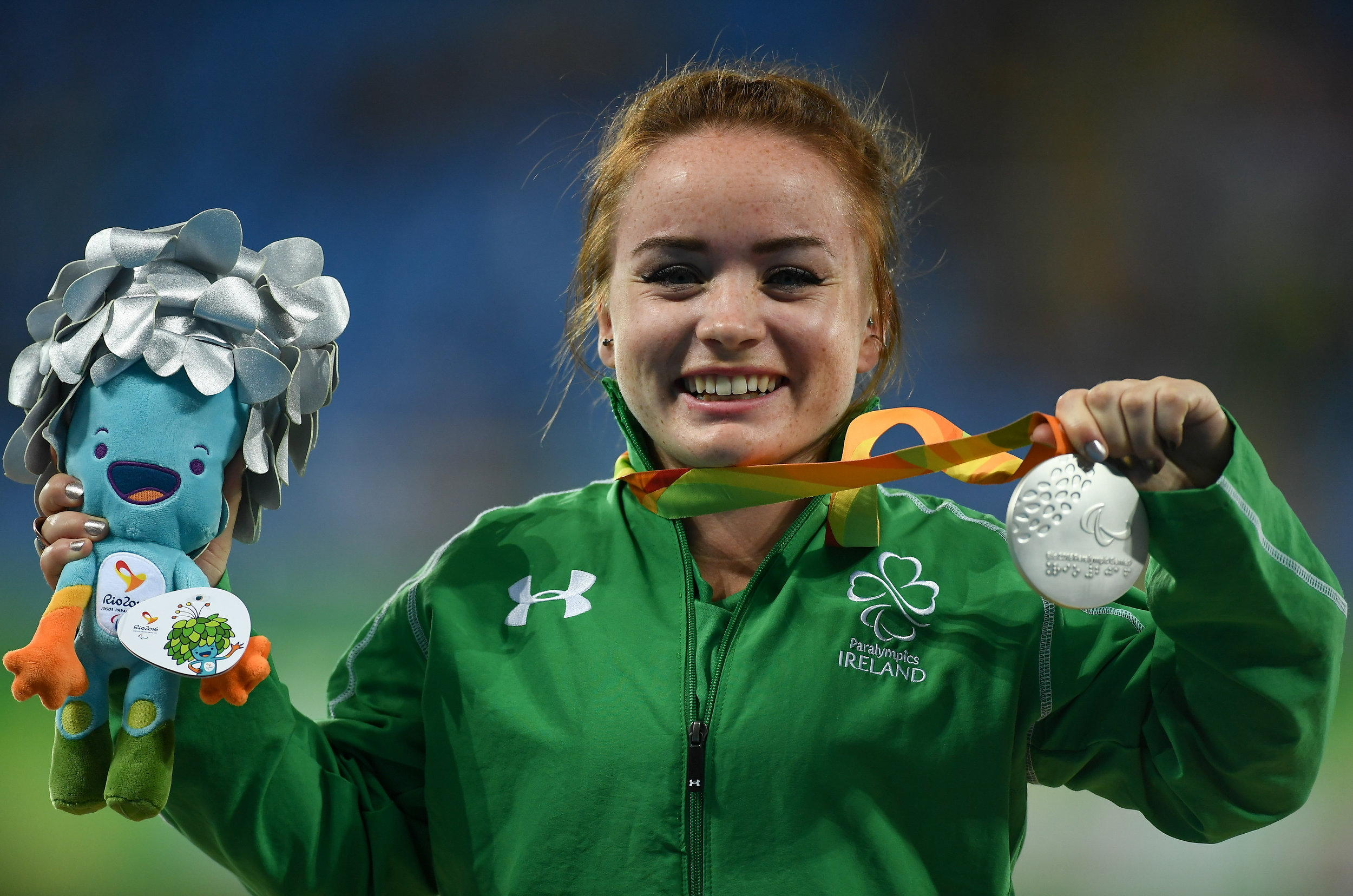 Athletics: Niamh MCarthy after winning Silver in the F41 Discus Final