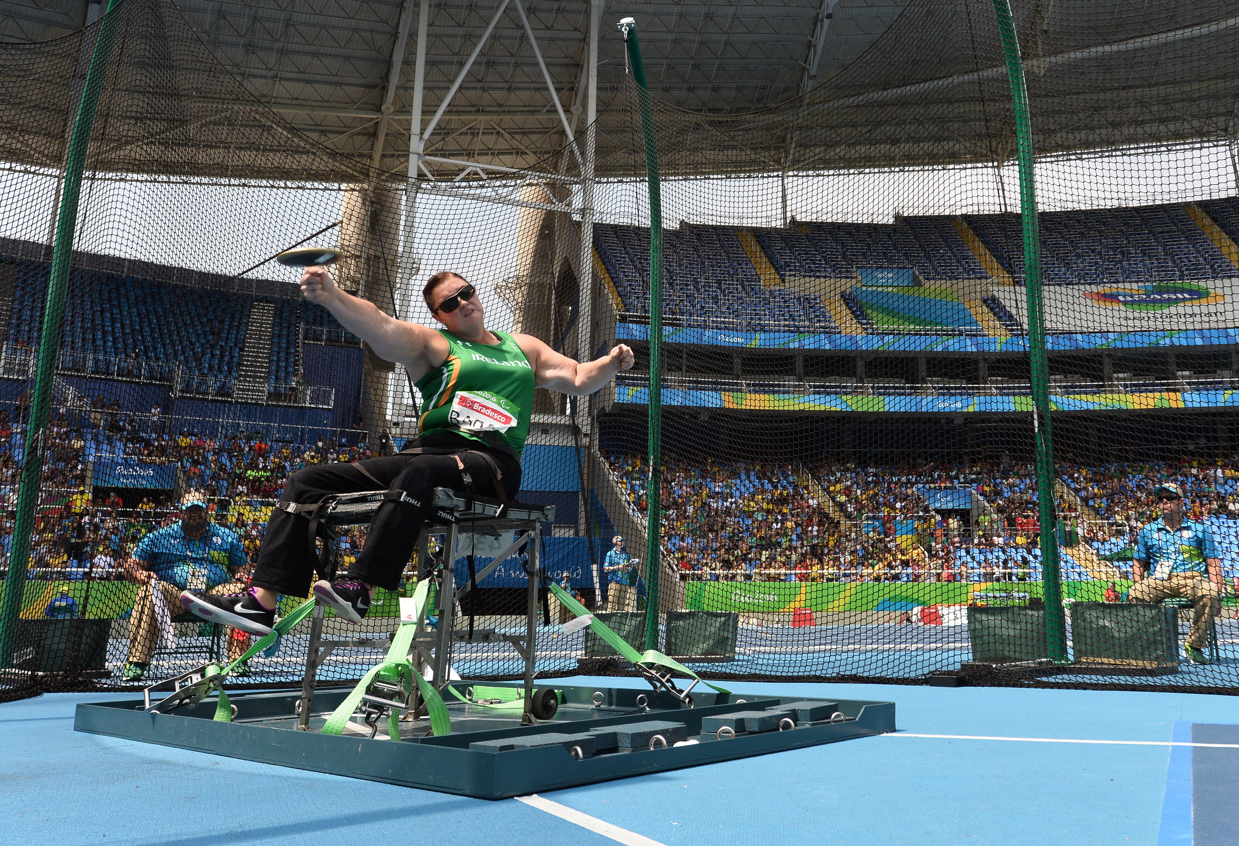Athletics: Orla Barry in the F57 Discus Final